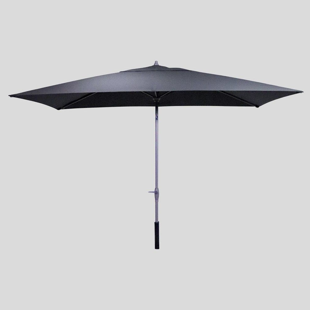 6.5' X 10' Rectangular Patio Umbrella Neutral – Ash Pole – Project With Regard To Best And Newest Fordwich Rectangular Cantilever Umbrellas (Gallery 6 of 20)