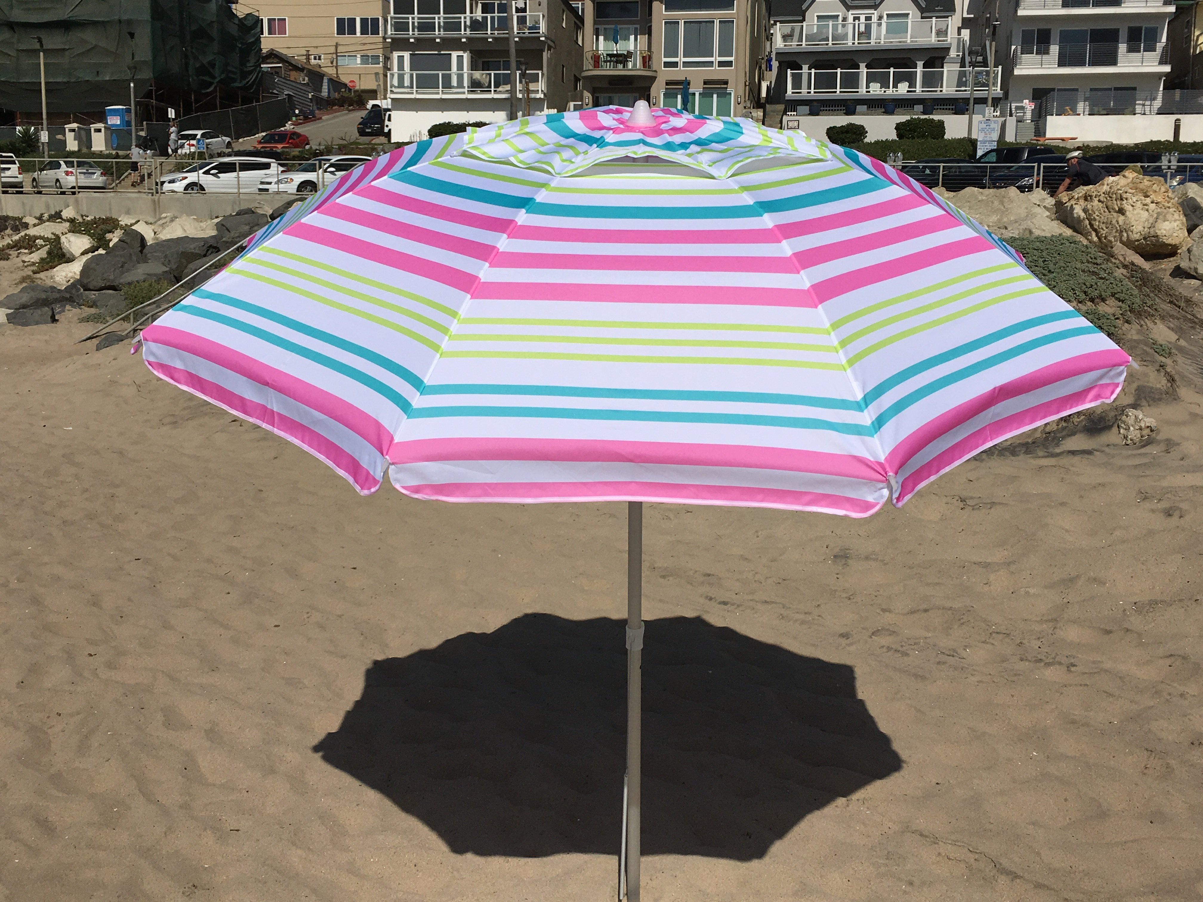 7' Beach Umbrella For Most Up To Date Schroeder Heavy Duty Beach Umbrellas (View 2 of 20)
