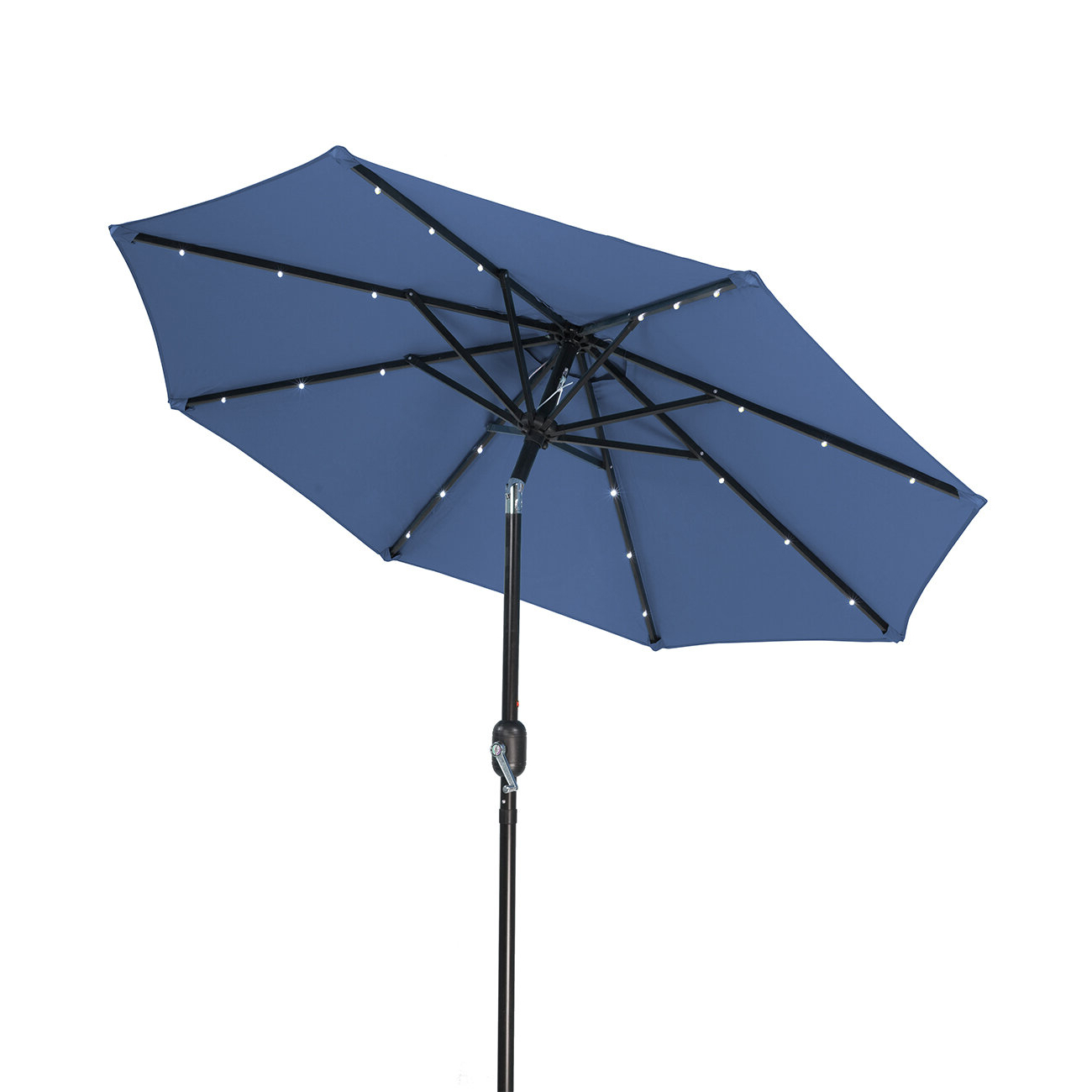 7' Lighted Umbrella Throughout Trendy Annabelle Market Umbrellas (View 3 of 20)
