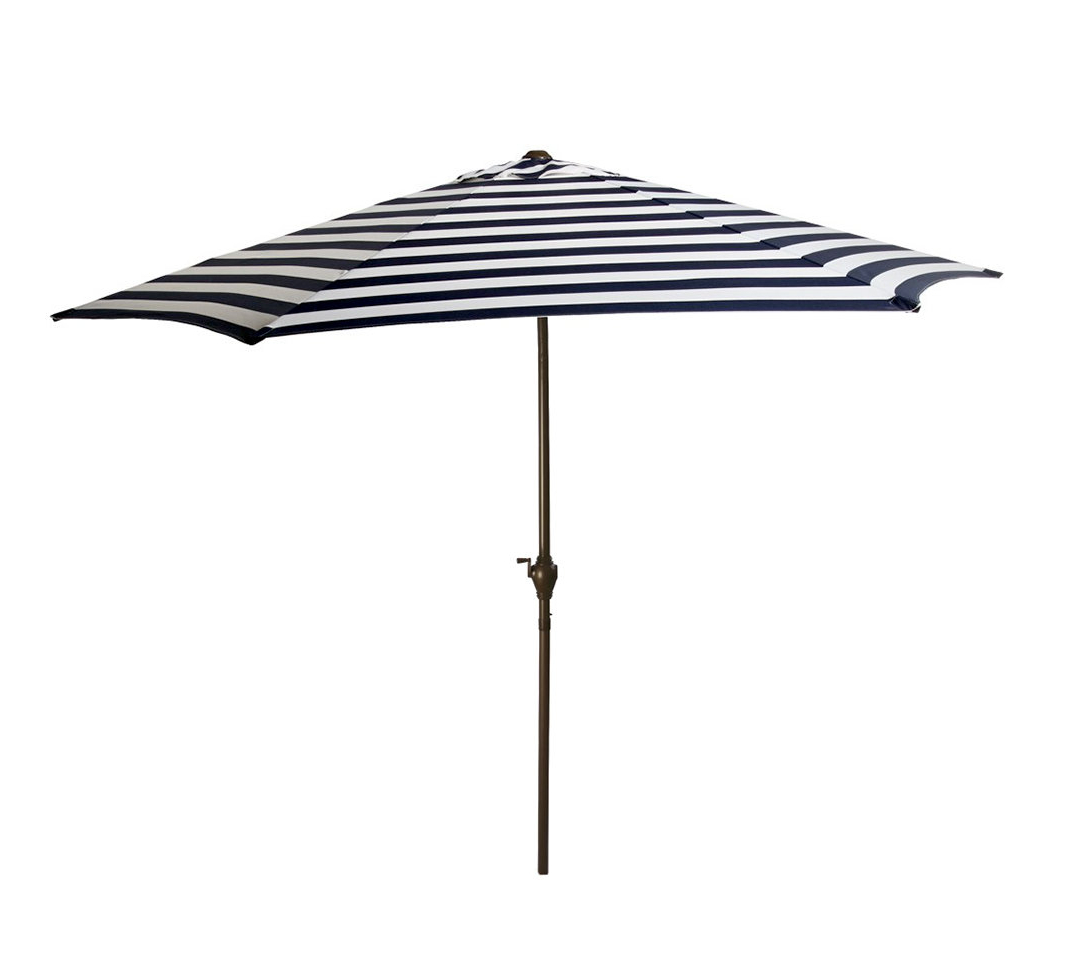 8' Market Umbrella Pertaining To 2020 Darwen Tiltable Patio Stripe Market Umbrellas (View 1 of 20)