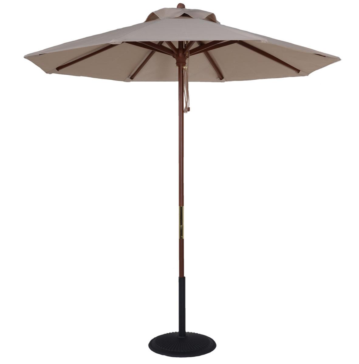 9 Ft. Wood Market Umbrella For Latest Market Umbrellas (Gallery 20 of 20)