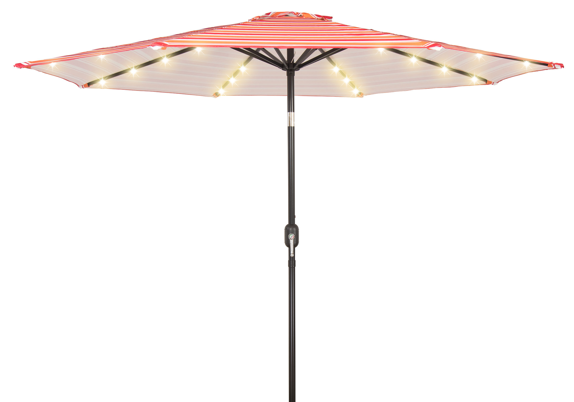 9' Lighted Umbrella With Newest Hettie Solar Lighted Market Umbrellas (View 4 of 20)