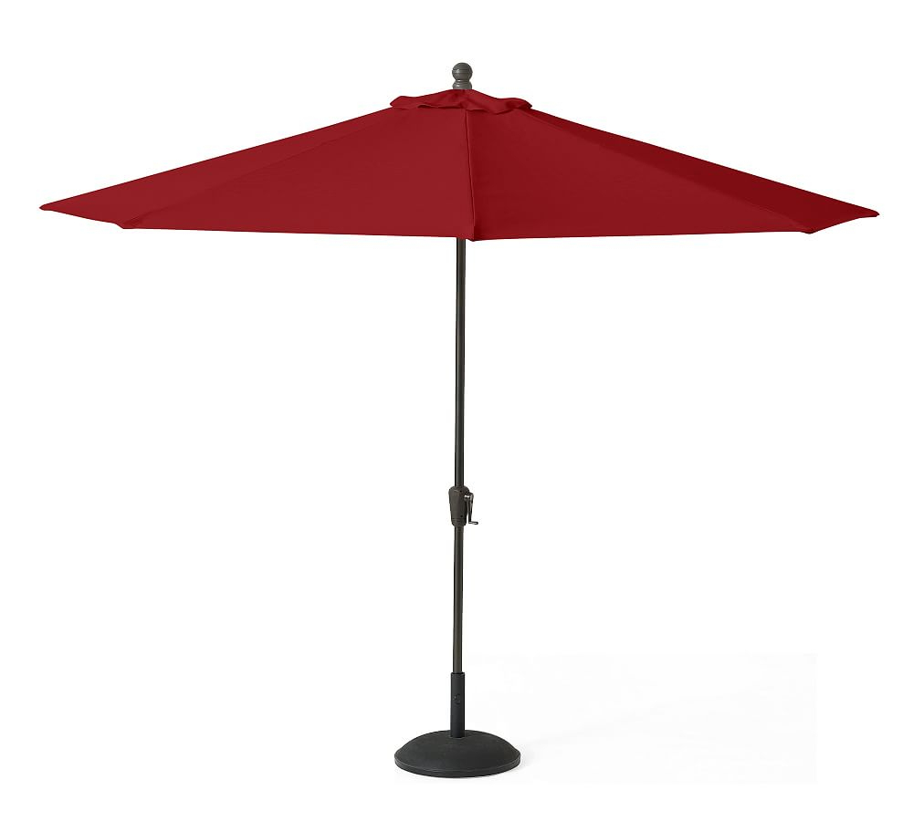 9' Round Market Umbrella With Eucalyptus Pole – Sunbrella(r) Linen Within Best And Newest Ceylon Cantilever Sunbrella Umbrellas (View 19 of 20)