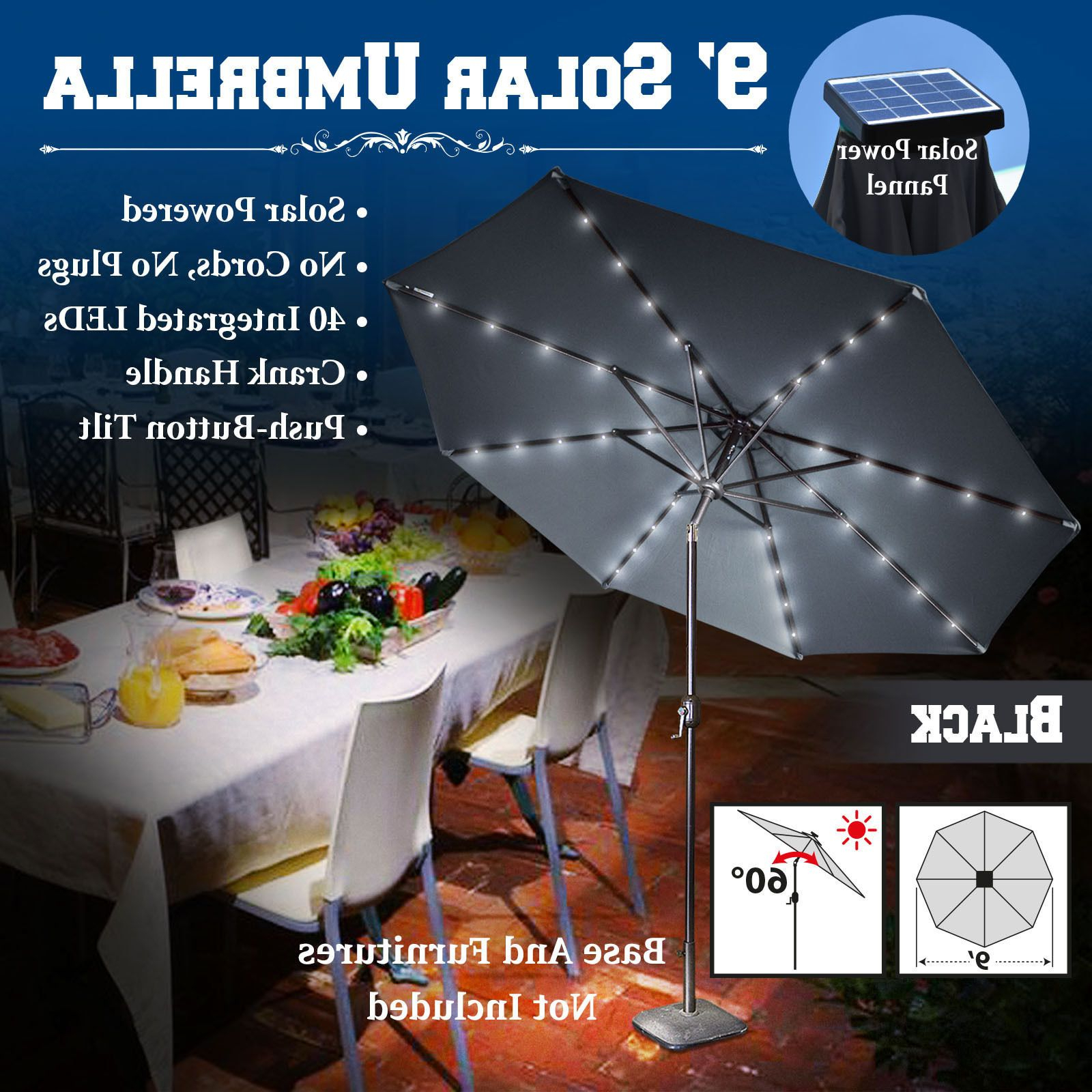 Abia 9' Lighted Umbrella (View 3 of 20)