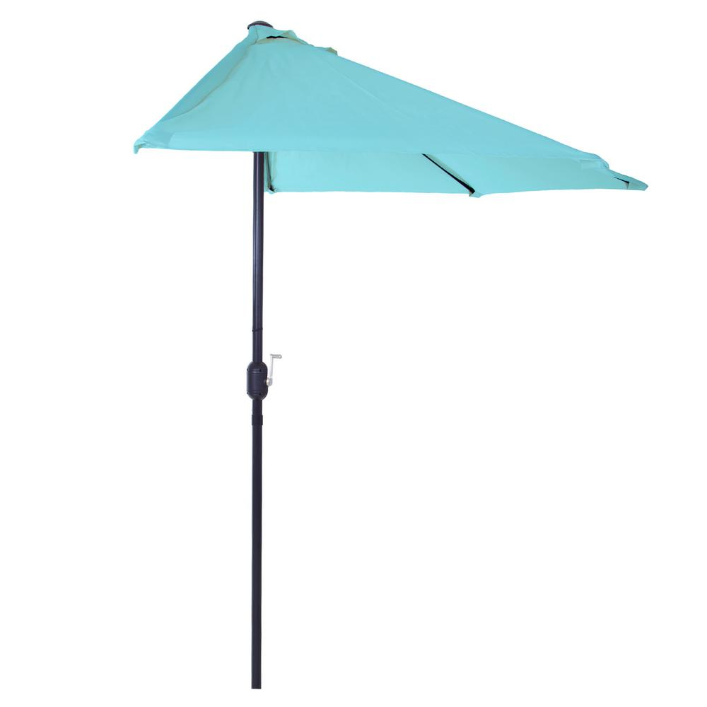 Alder Half Round Outdoor Patio Market Umbrellas In Newest Pure Garden 9 Ft (View 2 of 20)