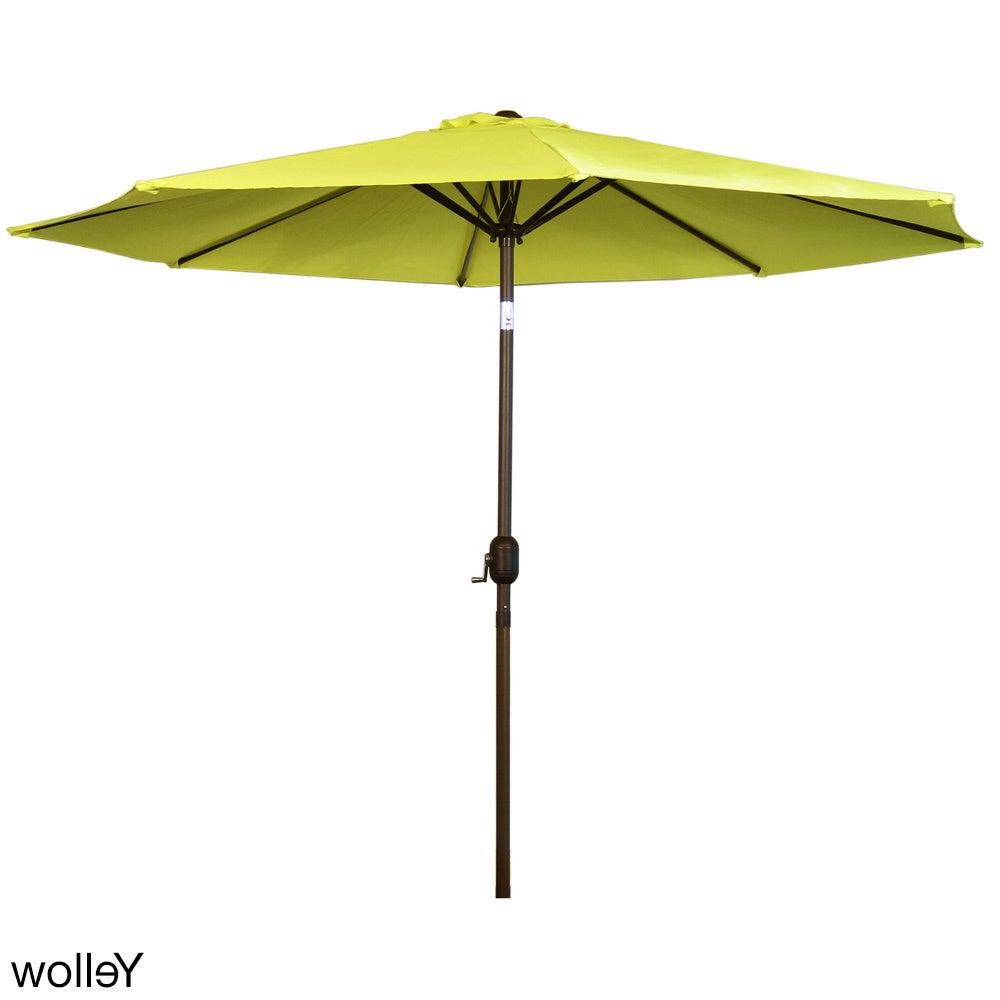 Alder Half Round Outdoor Patio Market Umbrellas Pertaining To 2019 Havenside Home La Porte Market 9 Foot Outdoor Umbrella With Steel Pole (View 12 of 20)