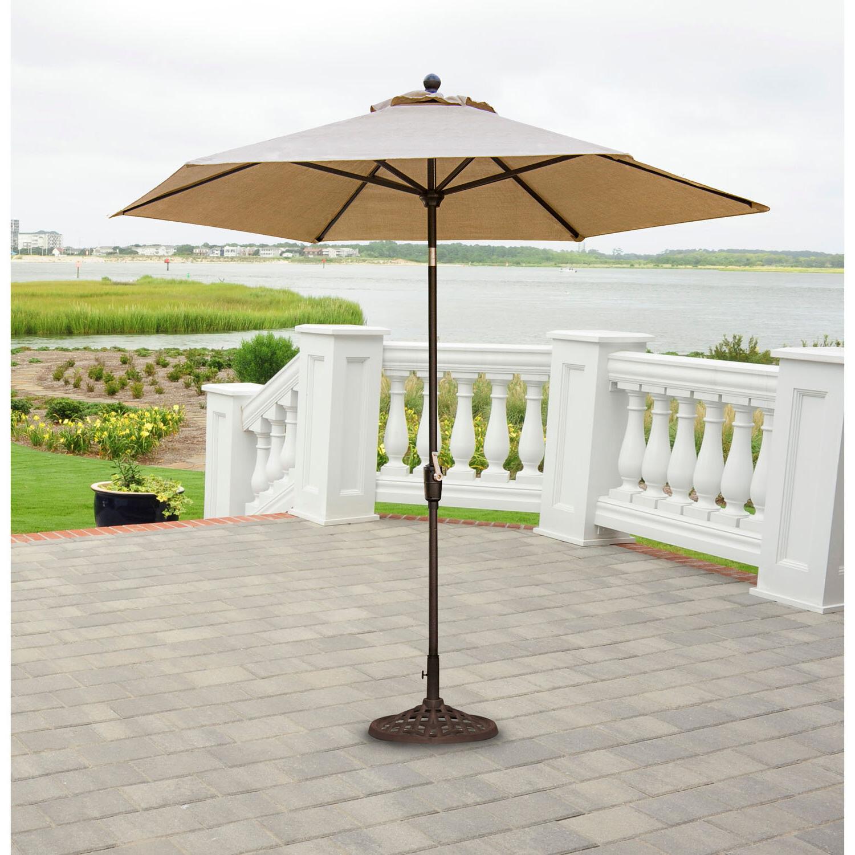 Alder Half Round Outdoor Patio Market Umbrellas Regarding Trendy Robicheaux Patio  (View 5 of 20)