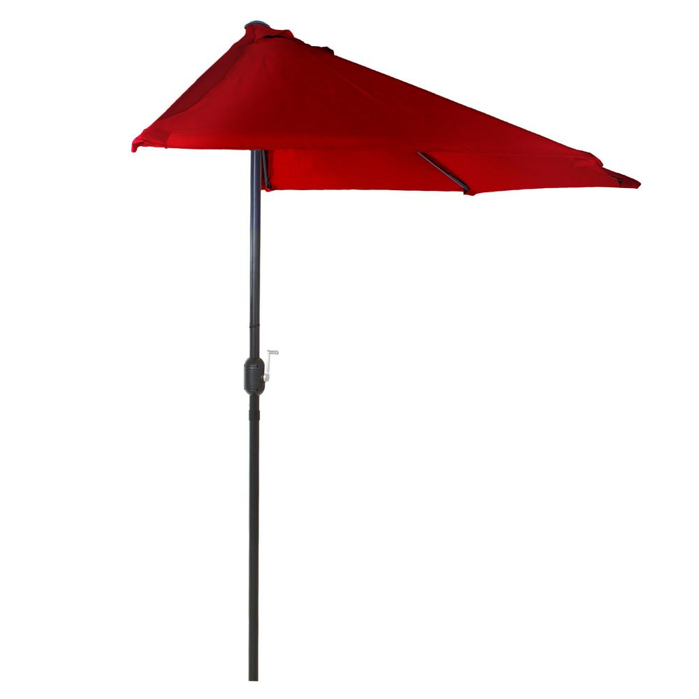 Alder Half Round Outdoor Patio Market Umbrellas Throughout Most Recently Released Pure Garden 9 Ft (View 7 of 20)