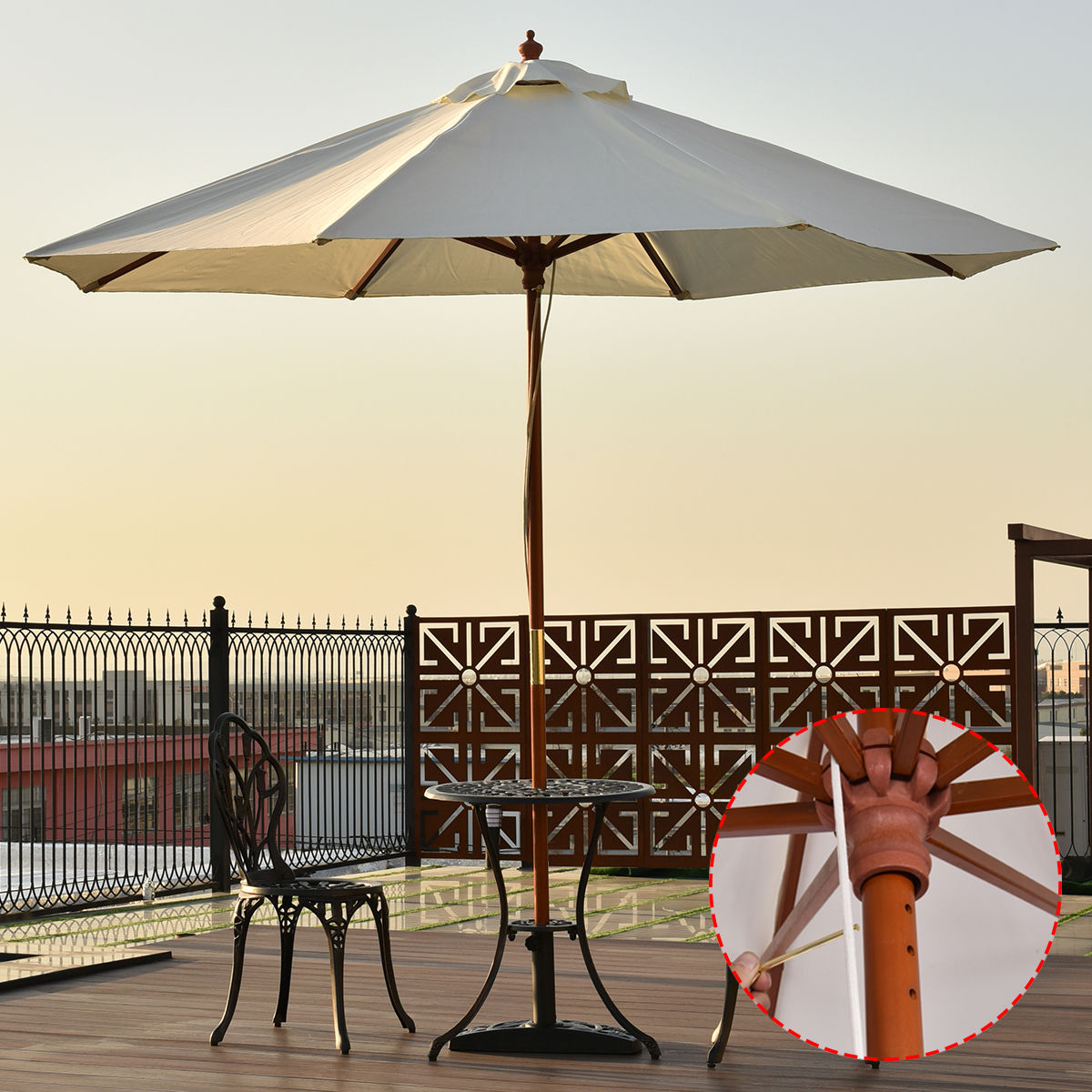 Amaris Cantilever Umbrellas With Most Popular Unbeatablesale: Northlight 6.5 Ft (View 17 of 20)