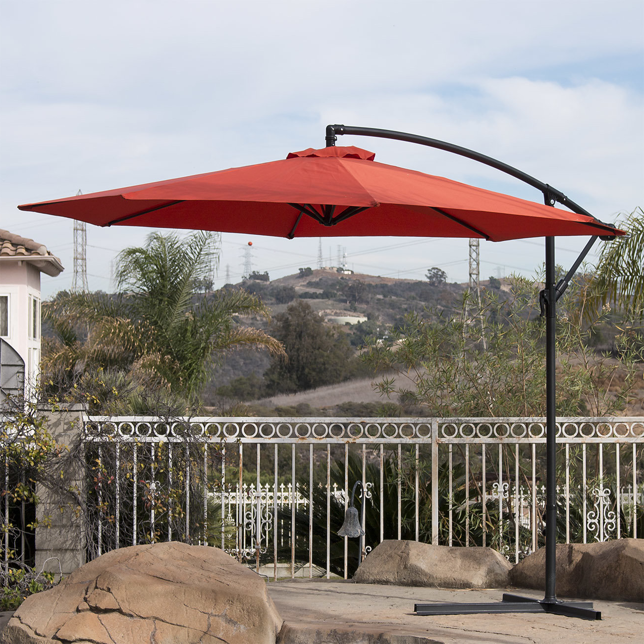 Andover Mills Bormann 10' Cantilever Umbrella Throughout Most Popular Bormann Cantilever Umbrellas (View 4 of 20)