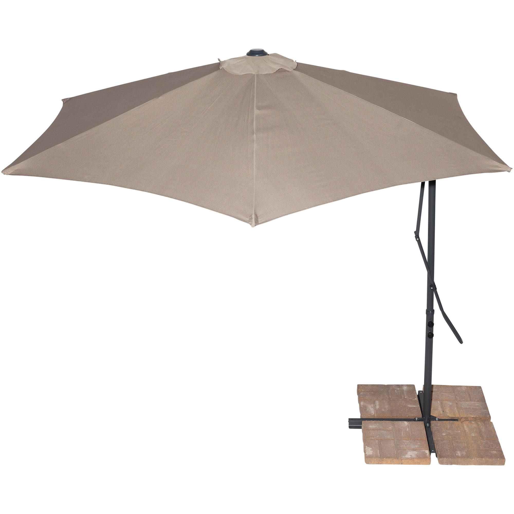 Anna Cantilever Umbrellas Throughout Most Recent California Sun Shades 10' Cantilever Umbrella, Tan (Gallery 17 of 20)