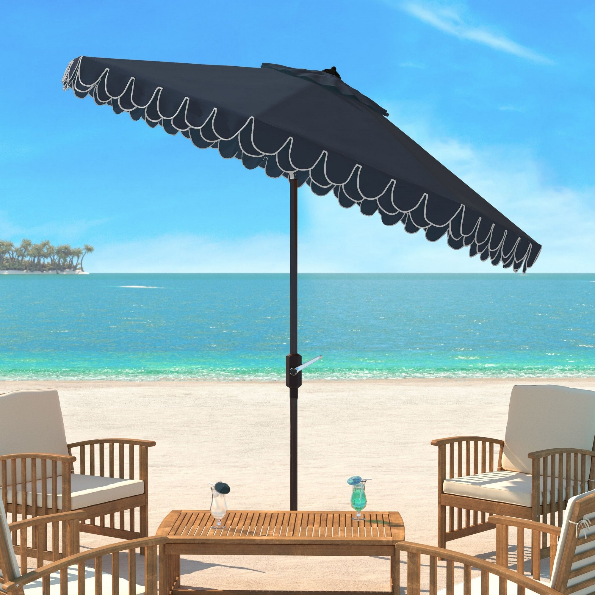 Artrip 9' Market Umbrella Regarding Well Known Hookton Crank Market Umbrellas (View 1 of 20)