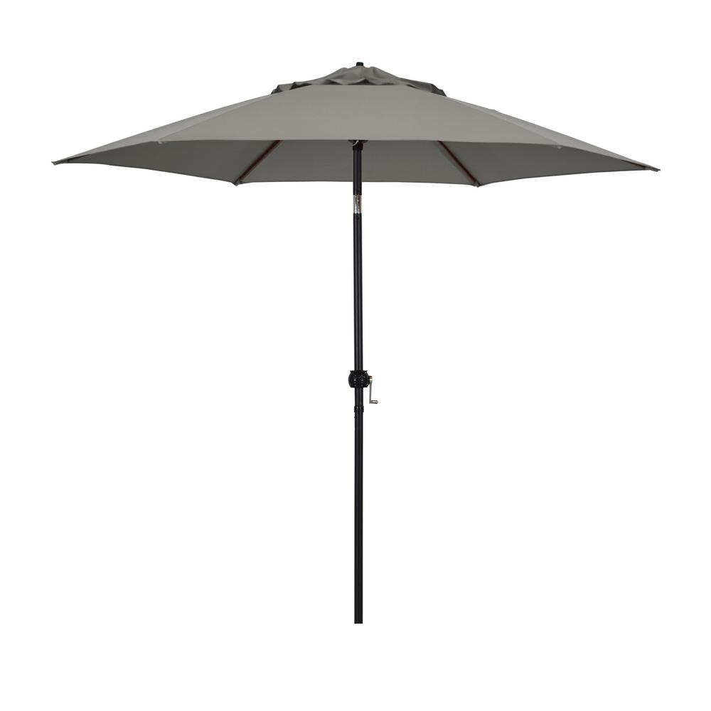 Astella 9 Feet Steel Market Umbrella With Push Tilt In Polyester Taupe Throughout Most Popular Market Umbrellas (View 6 of 20)