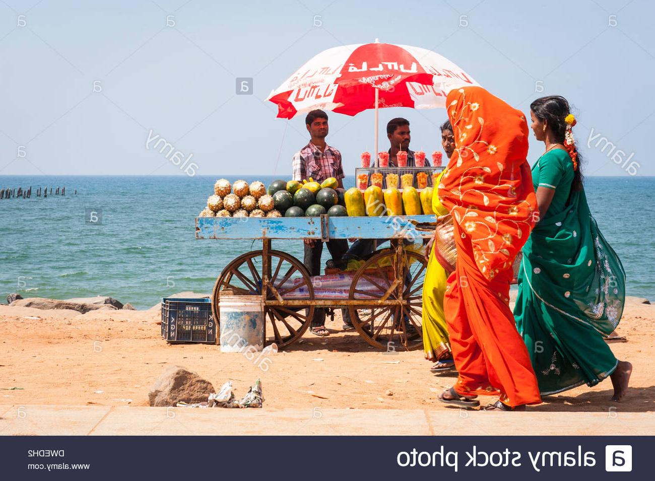 Auriville Beach Umbrellas Throughout Preferred Girls Pondicherry Tamil Nadu India Stock Photos & Girls Pondicherry (View 8 of 20)