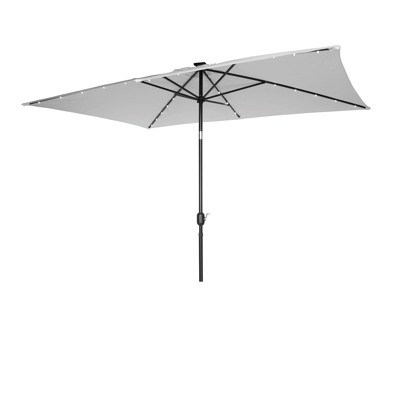 Bangert 10' X 6.5' Rectangular Lighted Umbrella For 2020 Dena Rectangular Market Umbrellas (Gallery 18 of 20)