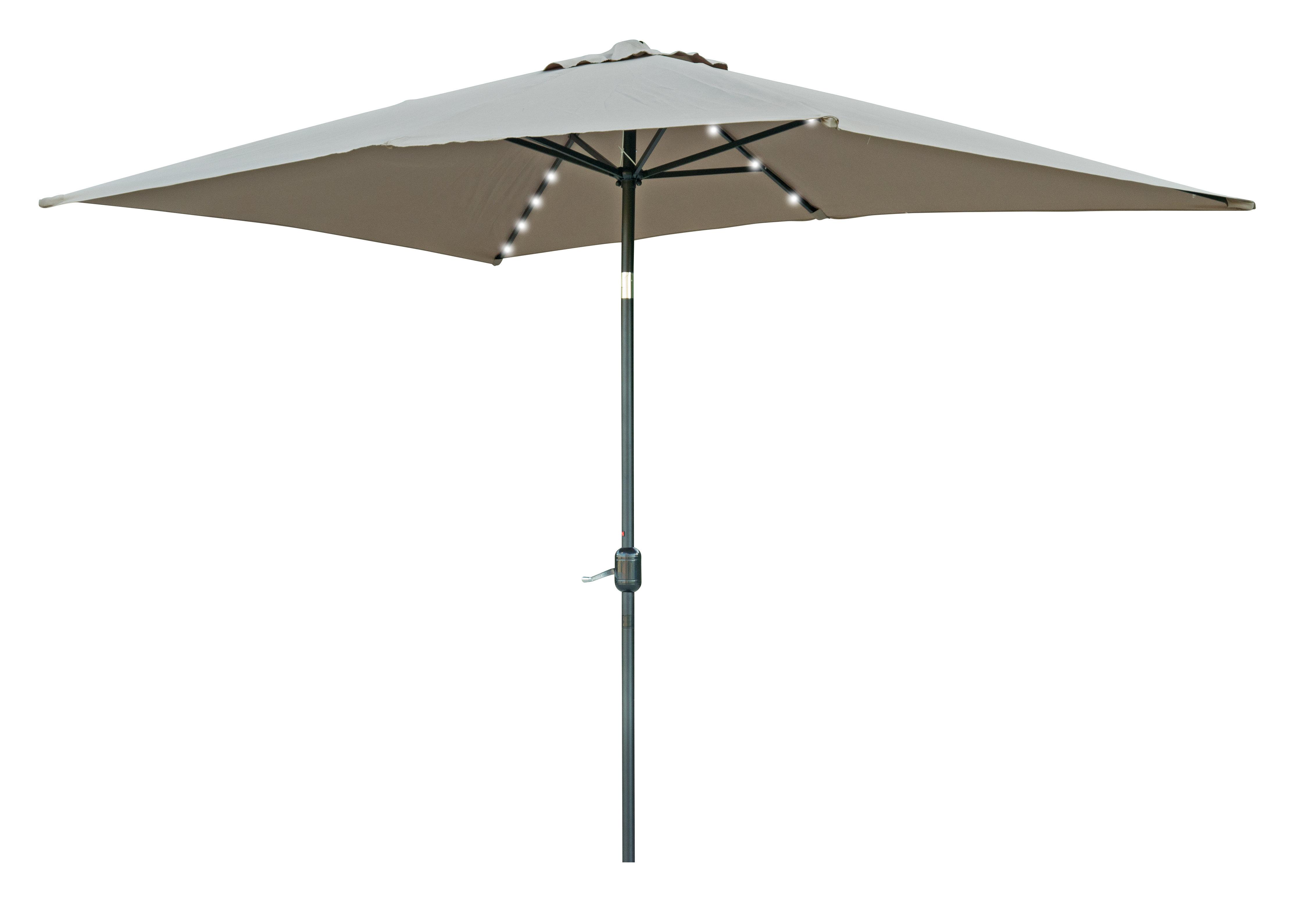 Bangert 10' X 6.5' Rectangular Lighted Umbrella Regarding Famous Fordbridge Rectangular Market Umbrellas (Gallery 11 of 20)