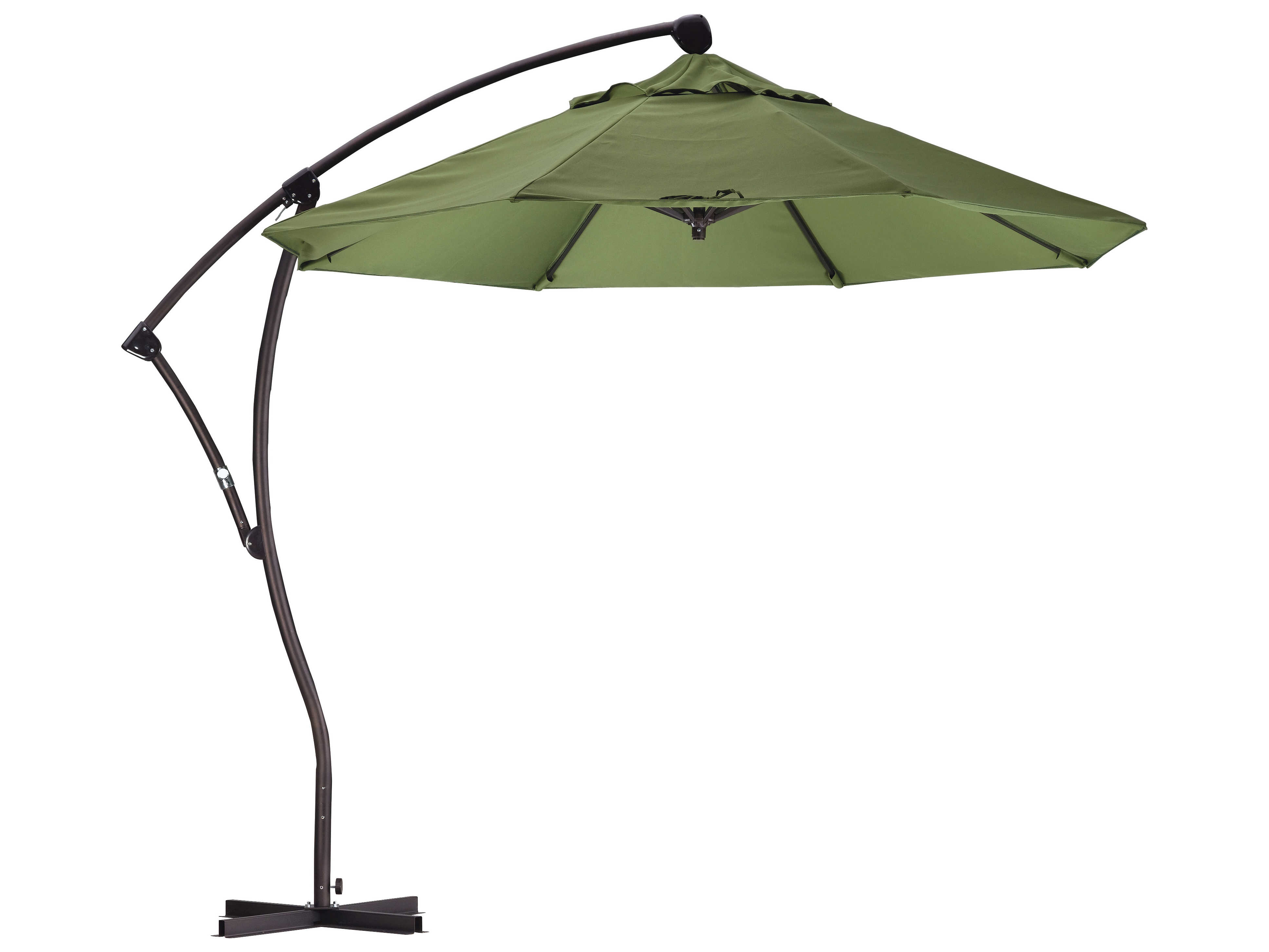 Bayside Series Cantilever Umbrellas Pertaining To Best And Newest California Umbrella Bayside Series 9 Foot Octagon Cantilever Aluminum  Umbrella With Crank Lift System (Gallery 3 of 20)