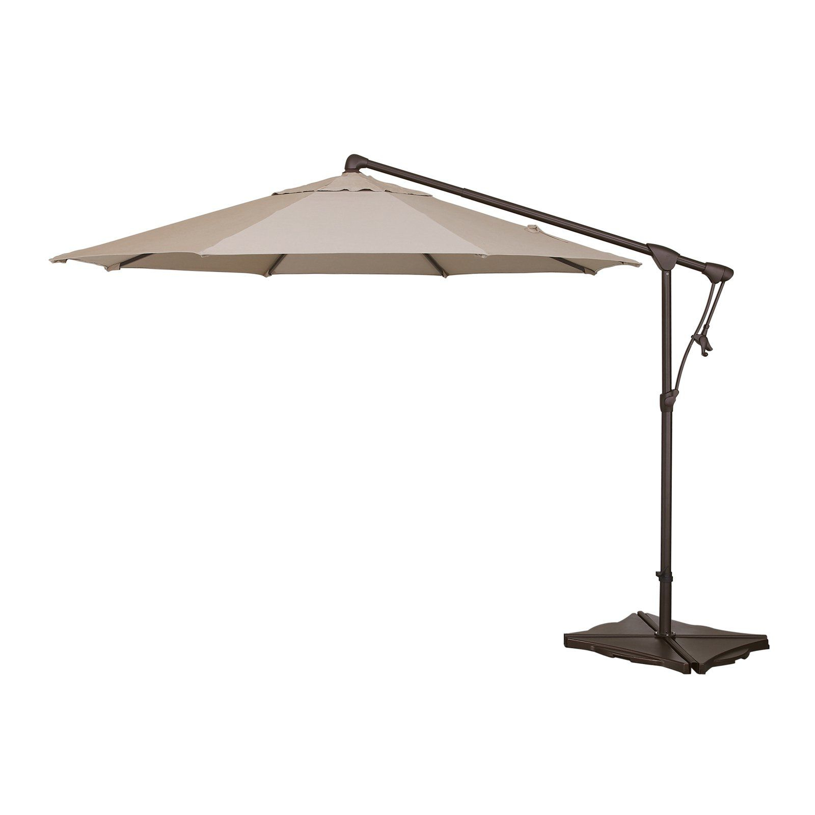 Bayside Series Cantilever Umbrellas Regarding Most Recently Released Treasure Garden 10 Ft. Sunbrella Offset Patio Umbrella Antique Beige (Gallery 12 of 20)