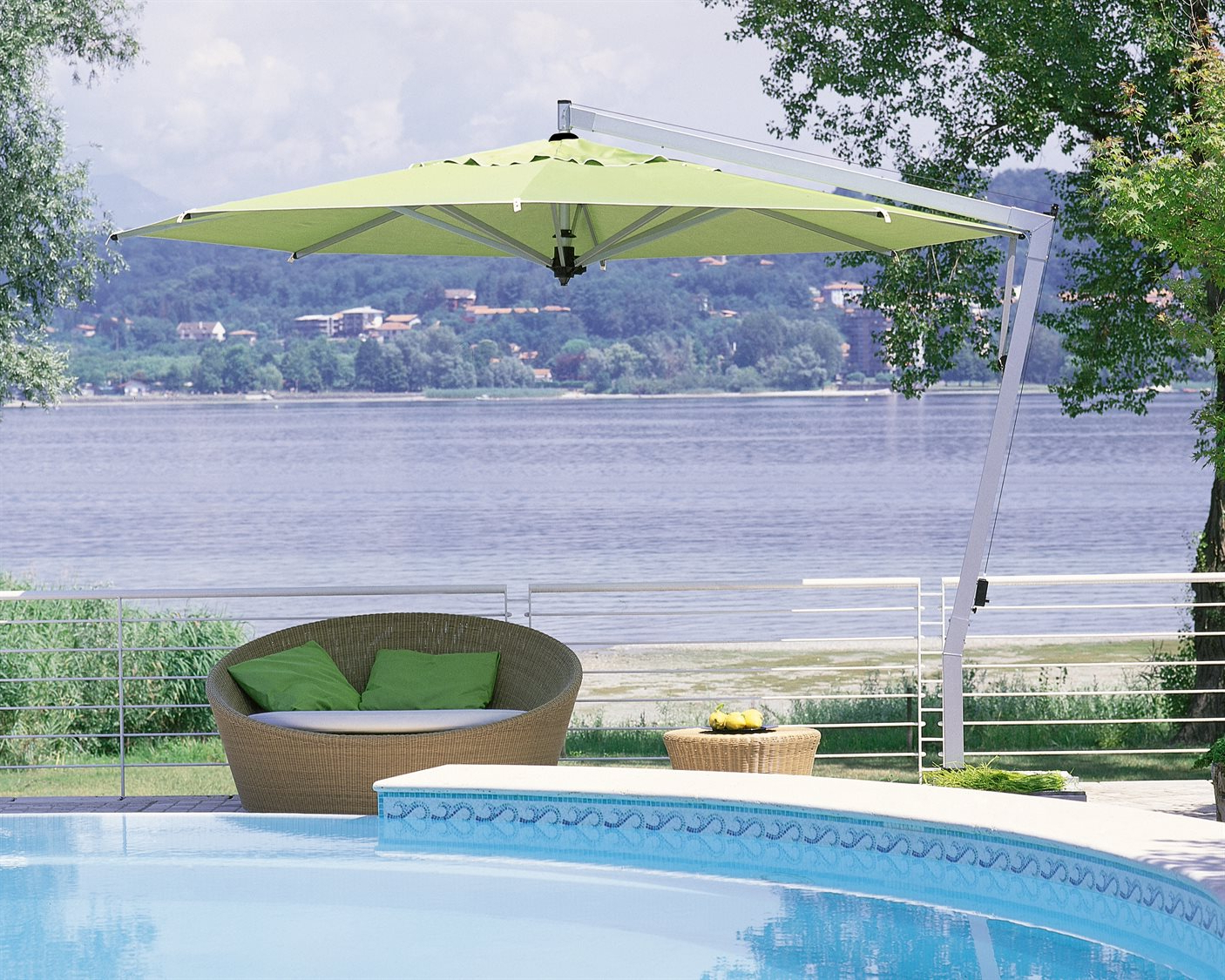 Bayside Series Cantilever Umbrellas With Regard To Well Known Fim P  Series Aluminum 13' Octagon Cantilever Umbrella (View 5 of 20)