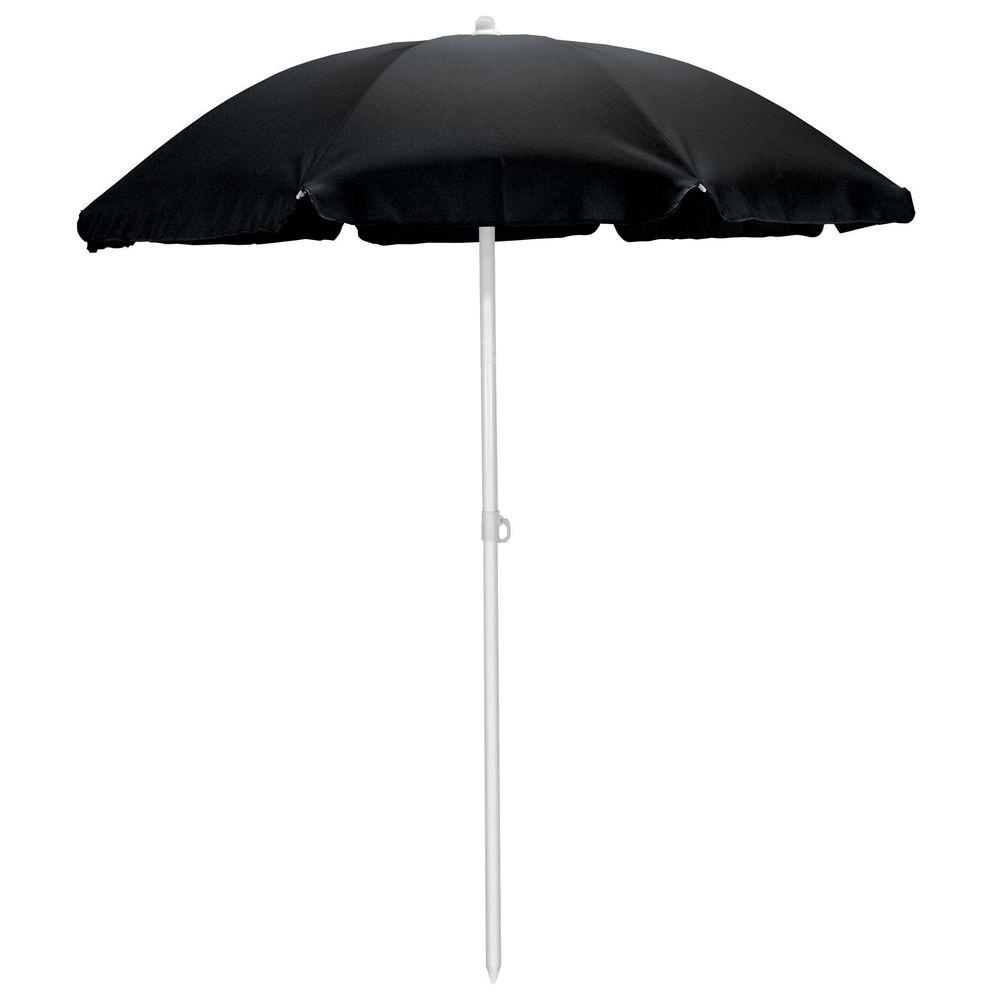 Beach Umbrellas With Regard To Widely Used Picnic Time 5.5 Ft. Beach Patio Umbrella In Black (Gallery 13 of 20)