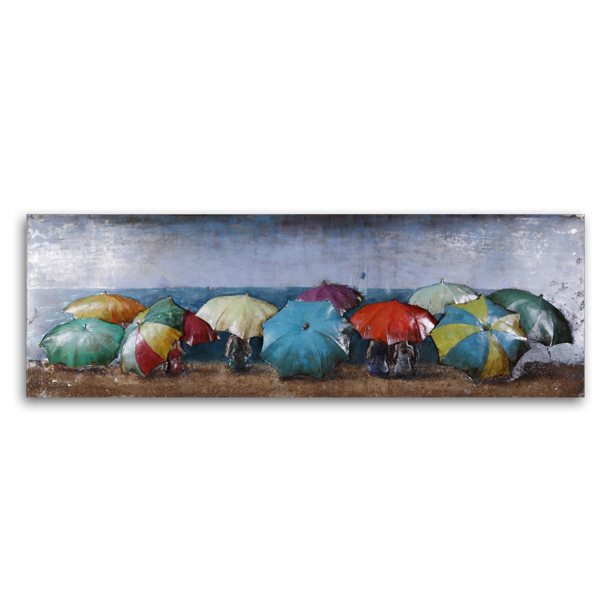 Beach Wall Art: Beach Umbrellas Metal Wall Art Within Most Popular Bella Beach Umbrellas (Gallery 13 of 20)