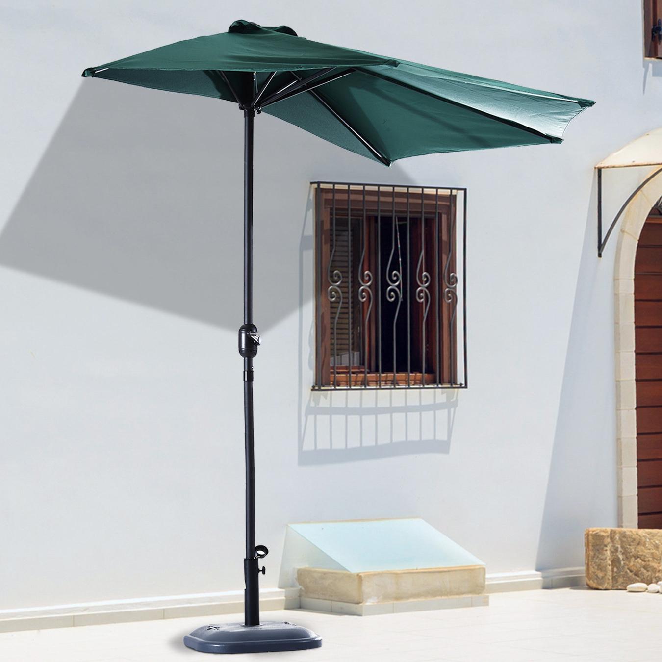 Becking 9' Half Round Market Umbrella For Widely Used Half Round Market Umbrellas (Gallery 8 of 20)
