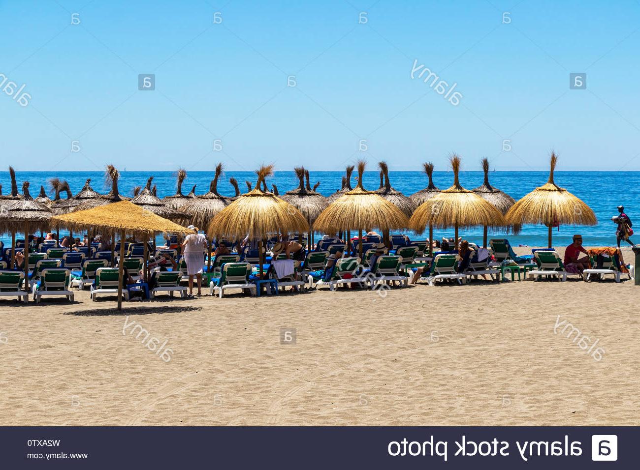 Bella Beach Umbrellas In Well Liked Marbella, Spain – May 26, 2019: Part Of The Sandy Playa De La Venus (Gallery 5 of 20)