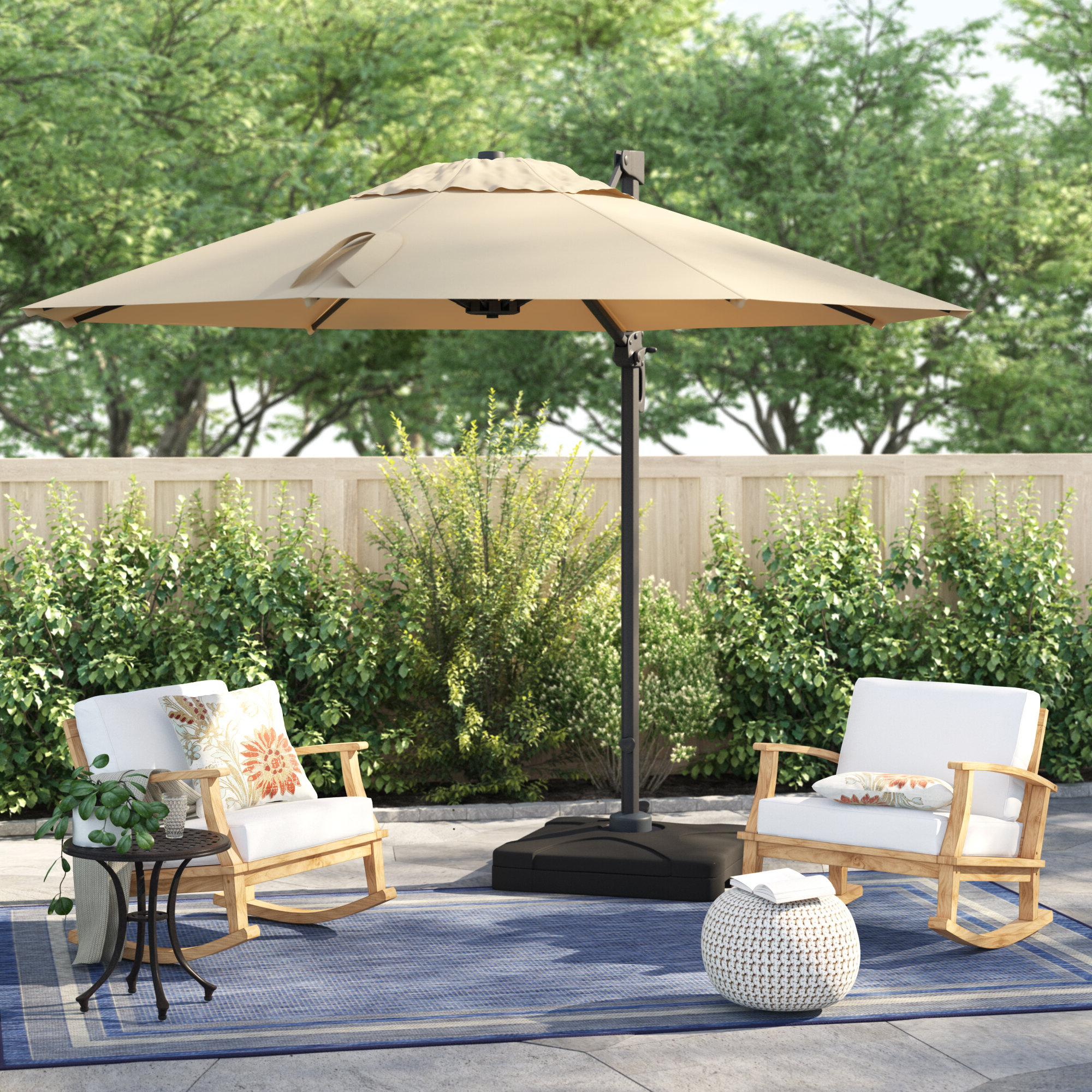 Best And Newest Bellana Cantilever Umbrella With Regard To Gribble 3Cantilever Umbrellas (View 5 of 20)