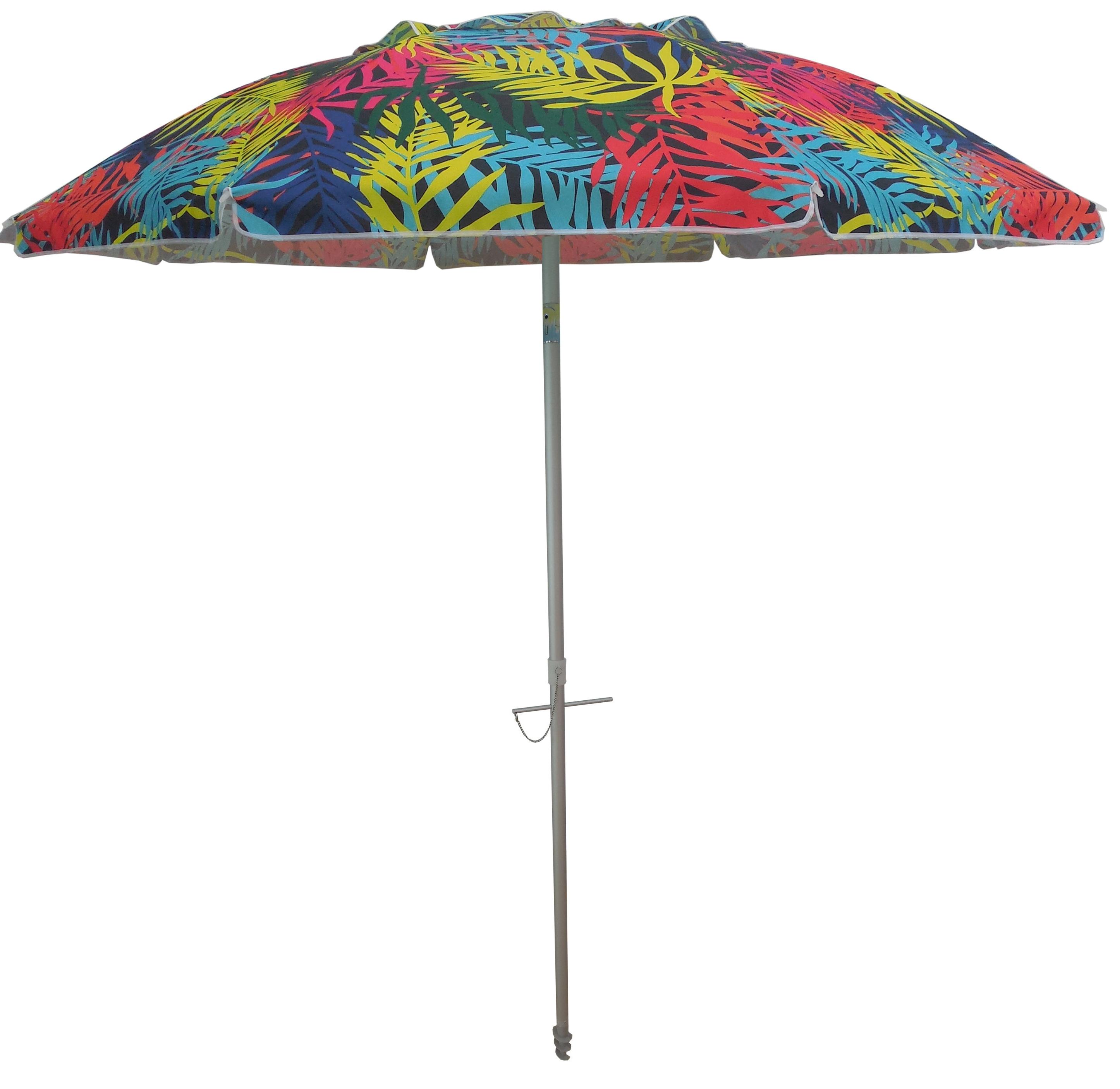 Best And Newest Capra Beach Umbrellas In Tropical Palms 7' Beach Umbrella (View 3 of 20)