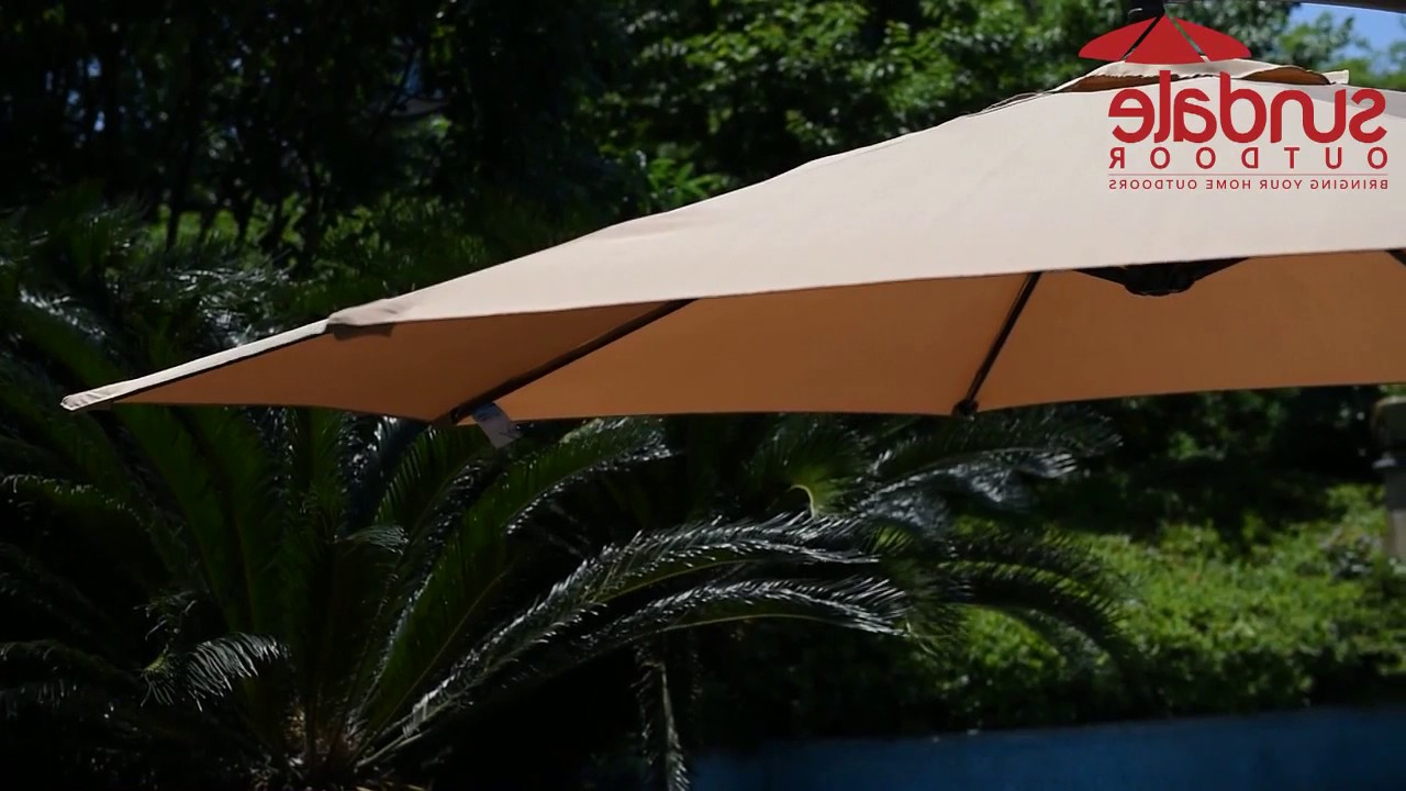 Best And Newest Windell Square Cantilever Umbrellas Intended For Sundale Outdoor 10ft Square Offset Hanging Umbrella Market Patio Umbrella Aluminum Cantilever Pole W/stylish Dual Wind Vent, Cover, Crank Lift And (Gallery 14 of 20)