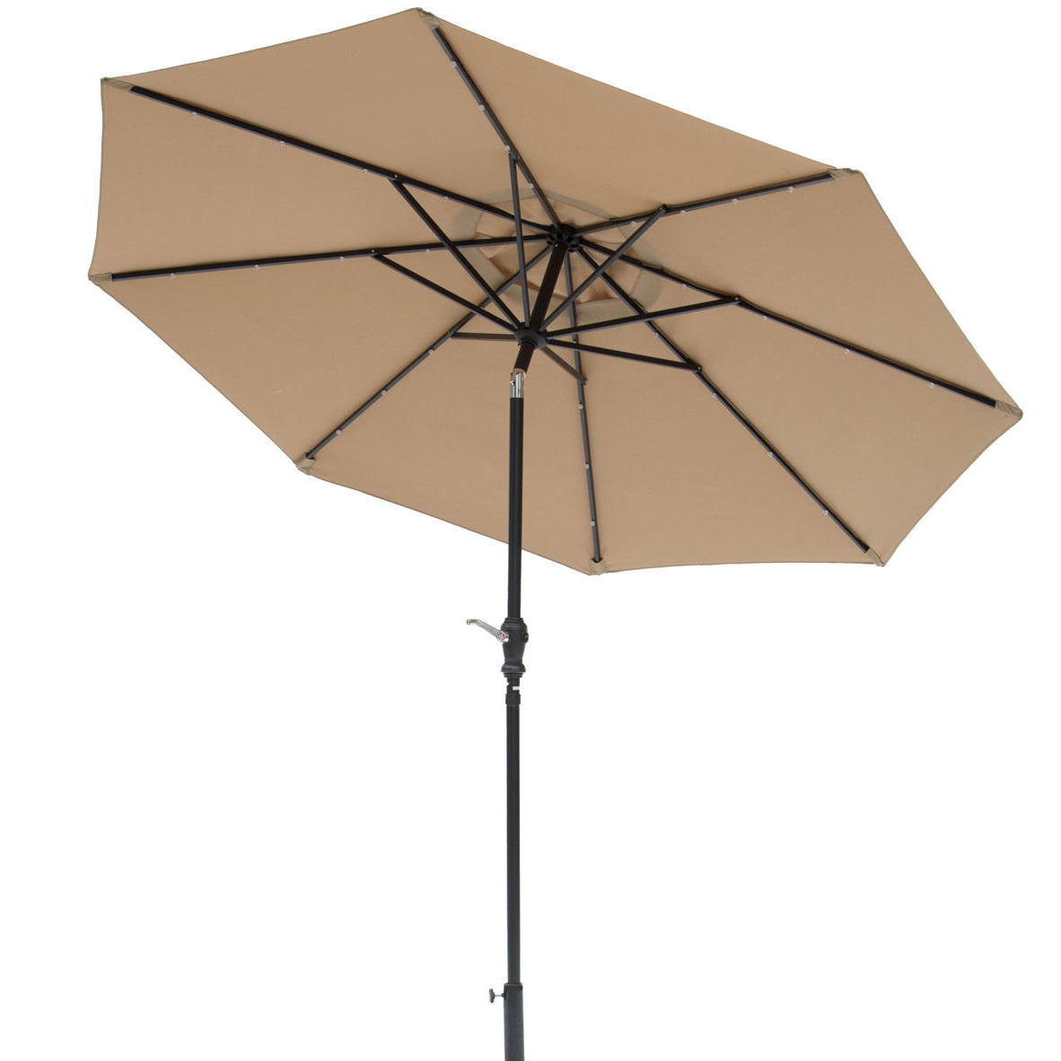 Best And Newest Zosia 9' Lighted Umbrella Inside Taube Market Umbrellas (View 13 of 20)