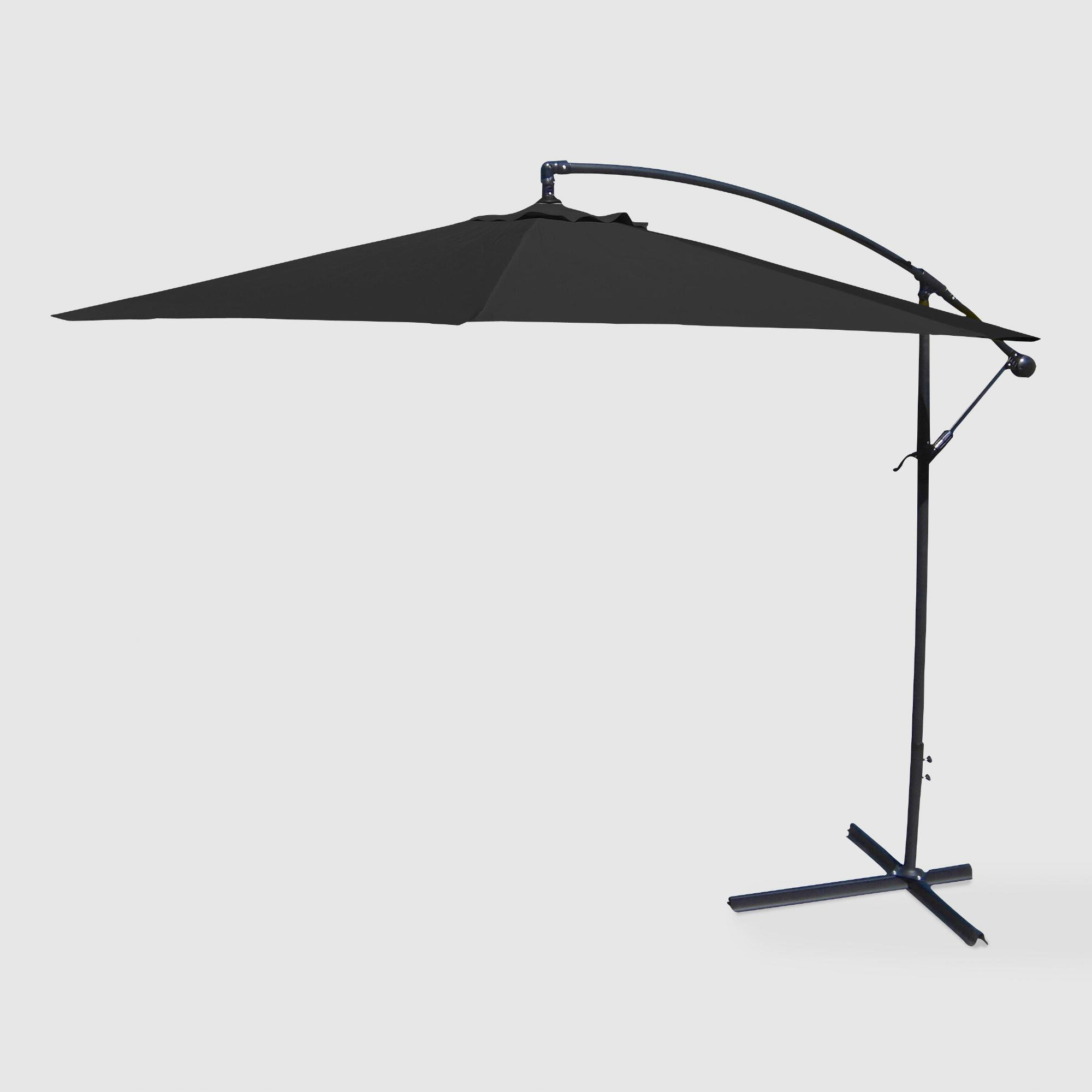 Black Cantilever Outdoor Patio Umbrella – Fabricworld Market In Regarding Fashionable Gemmenne Square Cantilever Umbrellas (View 14 of 20)