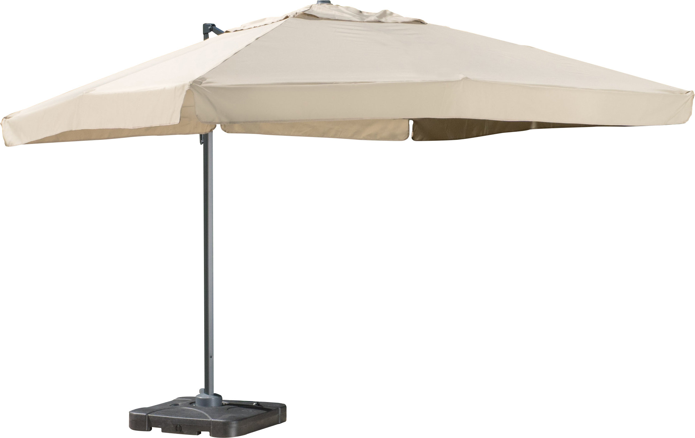 Bondi 9.8' Square Cantilever Umbrella Pertaining To Recent Ketcham Cantilever Umbrellas (Gallery 5 of 20)