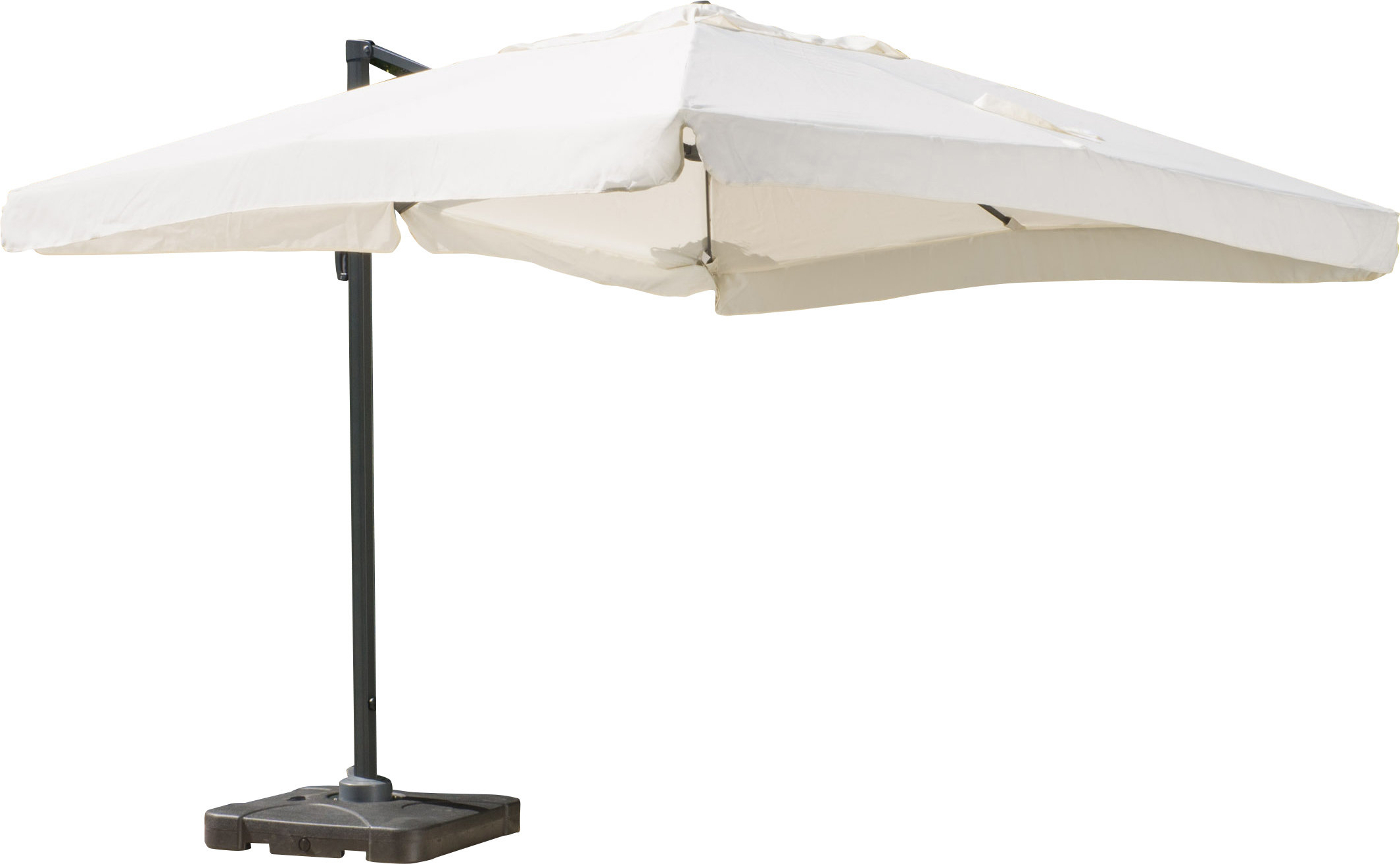 Bondi 9.8' Square Cantilever Umbrella With Newest Bondi Square Cantilever Umbrellas (Gallery 2 of 20)