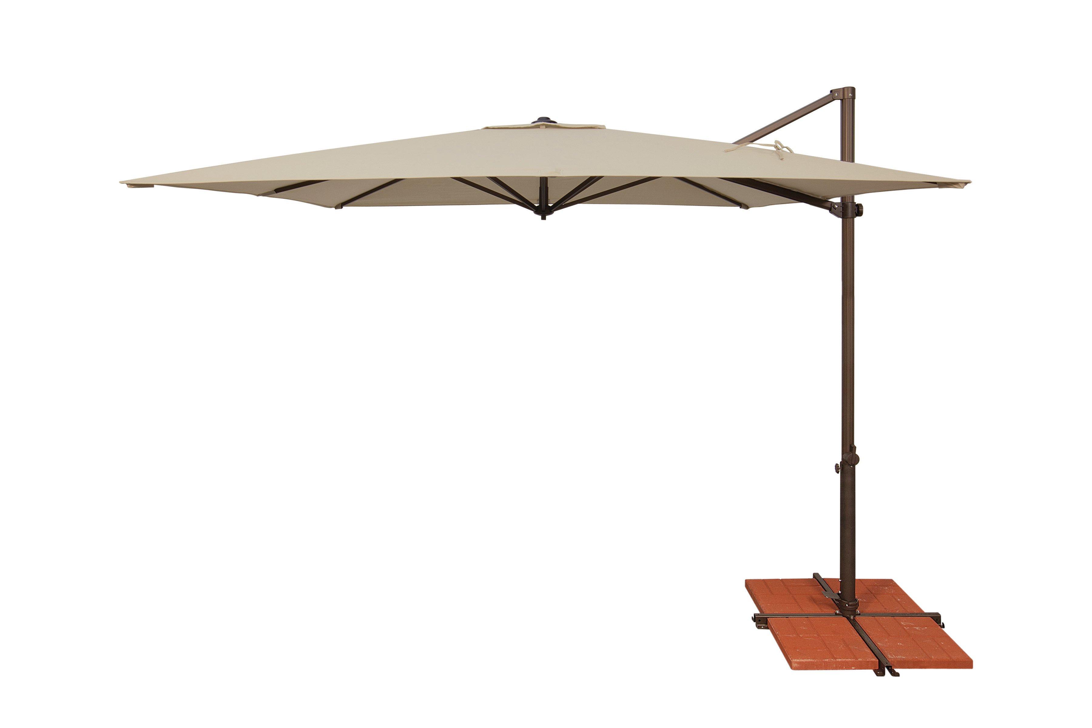 Bondi Square Cantilever Umbrellas For Most Popular Cora 8.6' Square Cantilever Umbrella (Gallery 3 of 20)