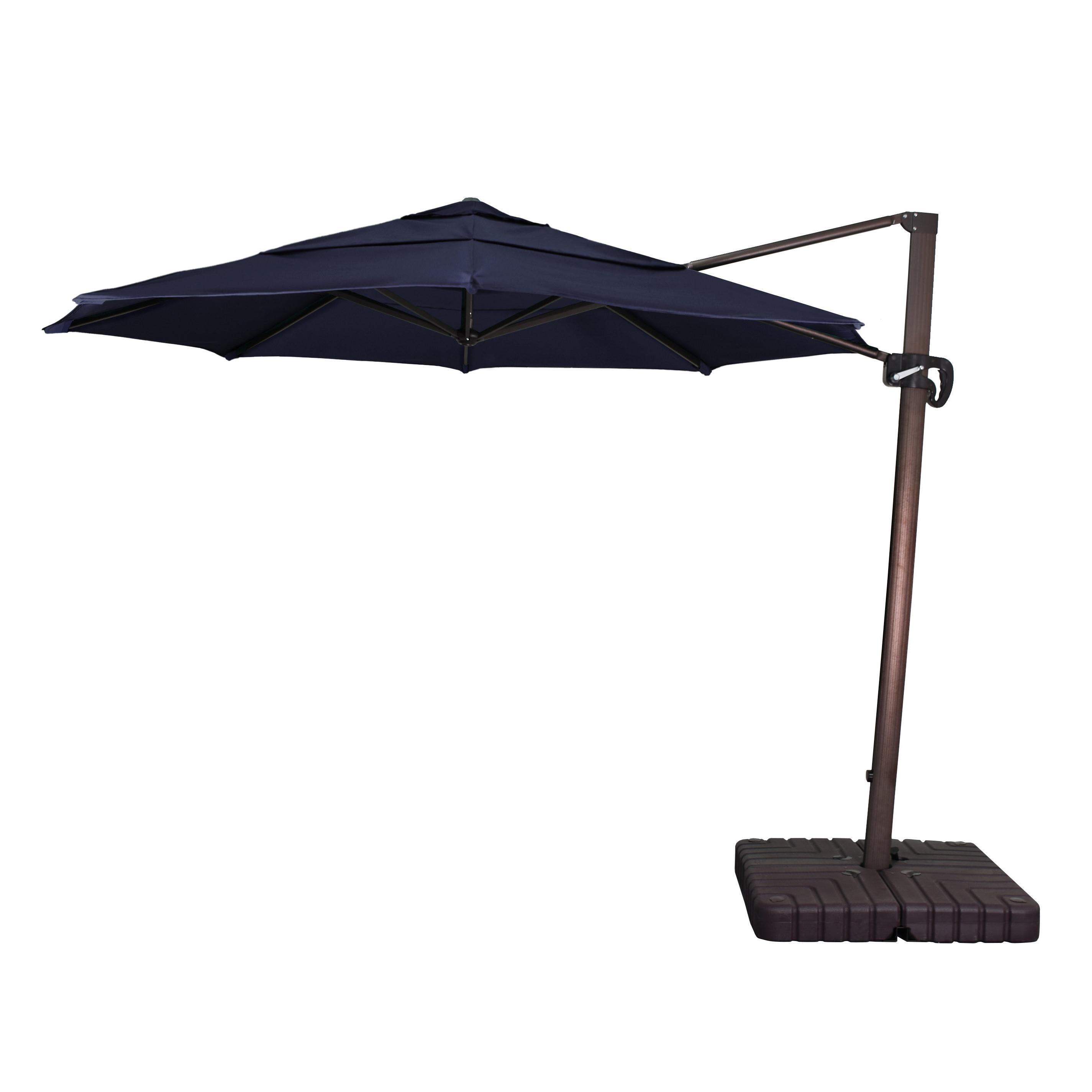 Bondi Square Cantilever Umbrellas With Regard To Most Popular Carlisle 11' Cantilever Sunbrella Umbrella (View 17 of 20)