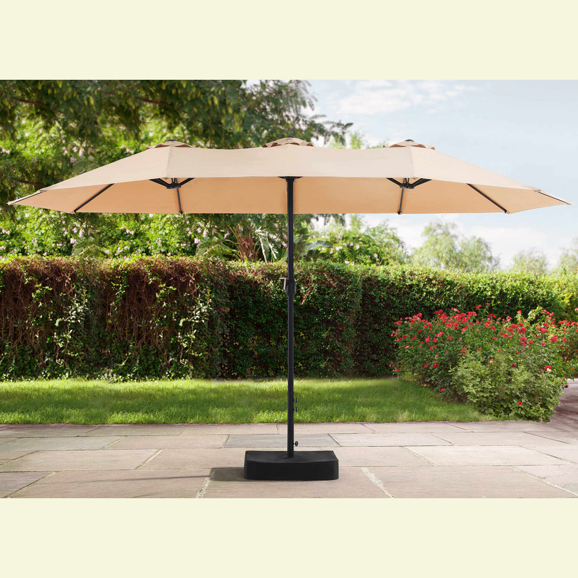 Bonview Rectangular Market Umbrellas With Regard To Favorite Darby Home Co Clarita 7' X 15' Rectangular Market Umbrella (View 12 of 20)