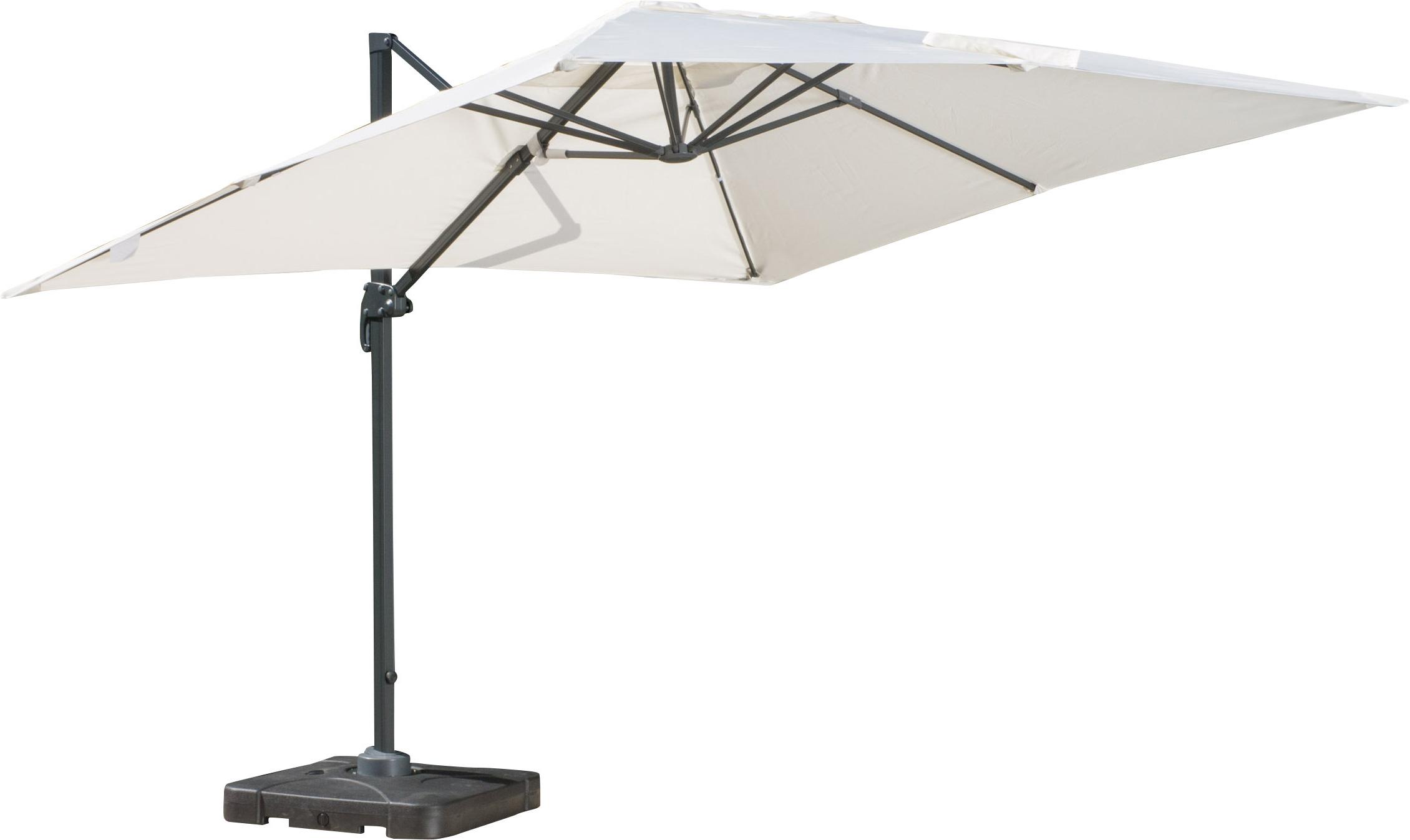 Boracay 10' Square Cantilever Umbrella & Reviews (View 3 of 20)