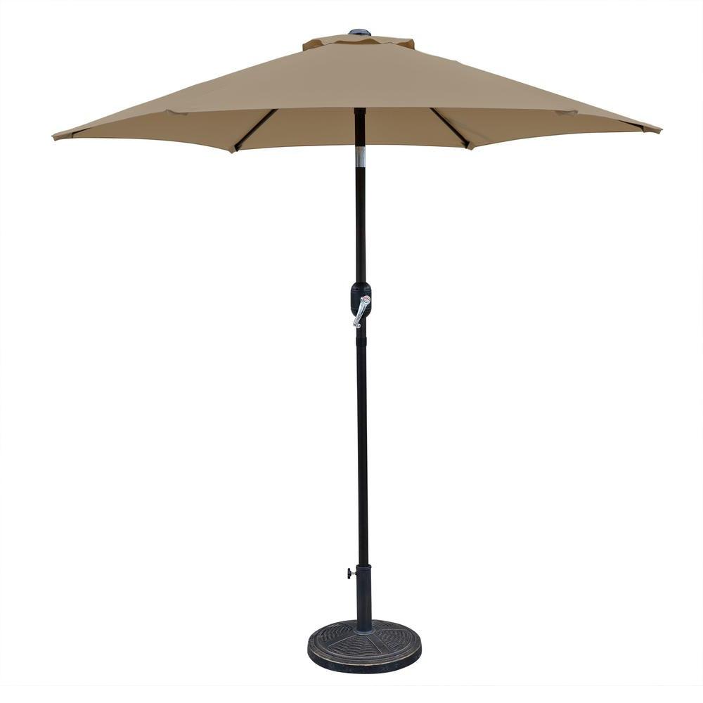 Bostic Cantilever Umbrellas Regarding Newest 25 Patio Umbrella Pole Lights – Nocurveballs (Gallery 13 of 20)