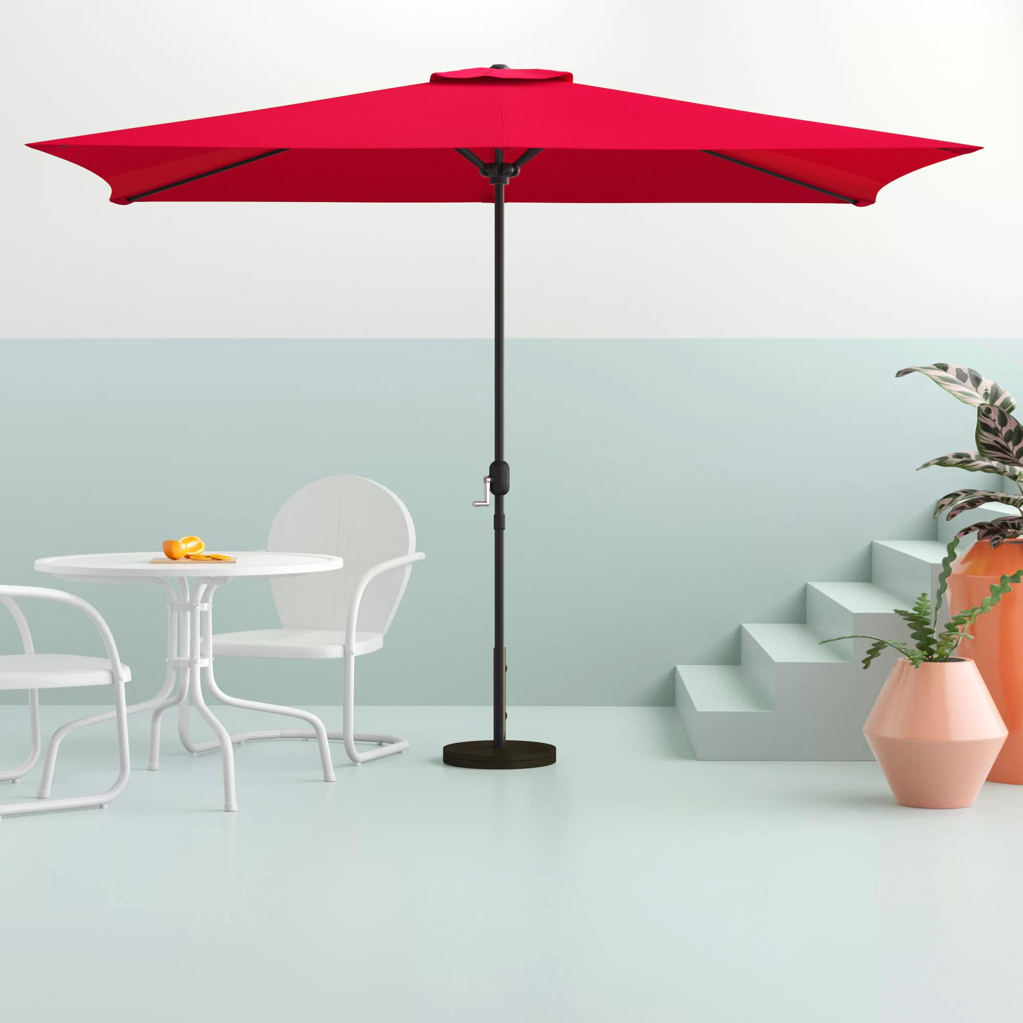 Bradford 10' X 6.5' Rectangular Market Umbrella Regarding Recent Haverhill Umbrellas (Gallery 4 of 20)