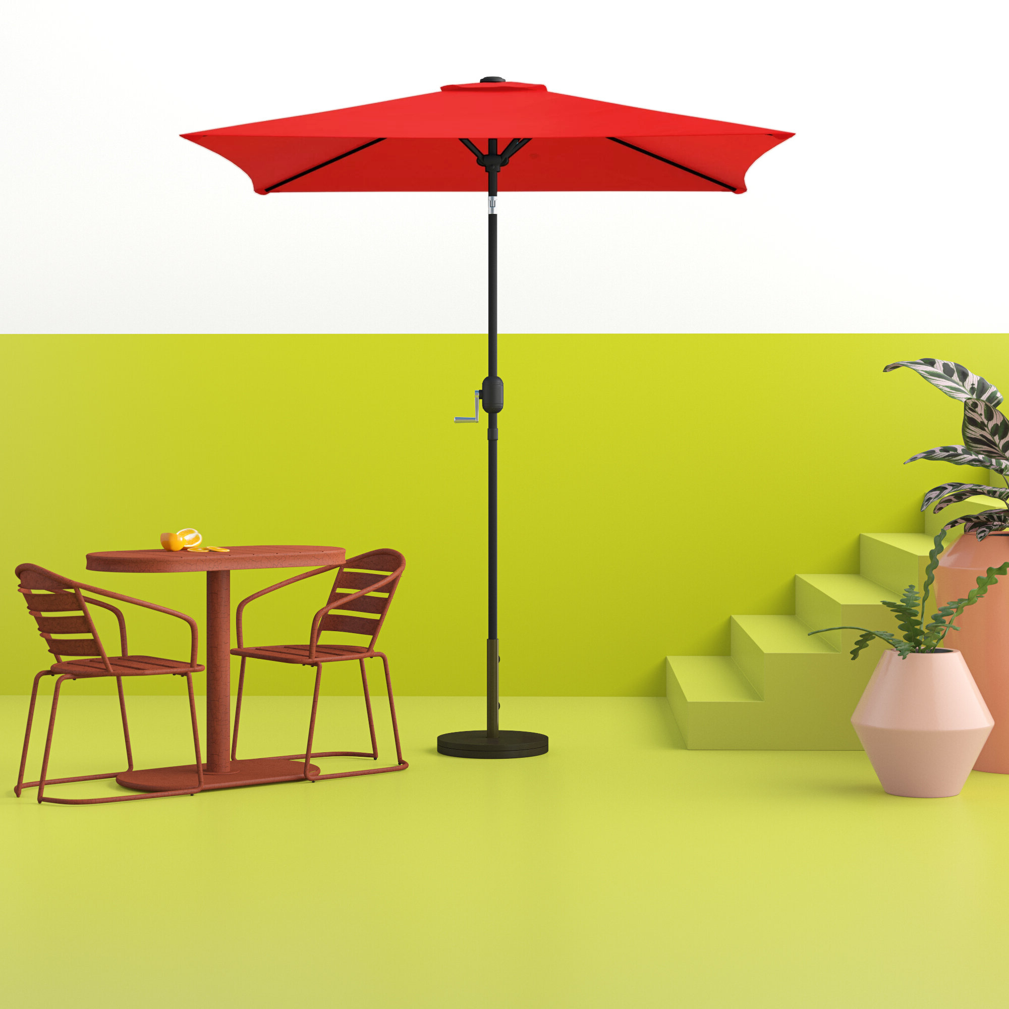 Bradford Patio 6.5' Square Market Umbrella With Regard To Most Recent Maglione Fabric 4Cantilever Umbrellas (Gallery 10 of 20)