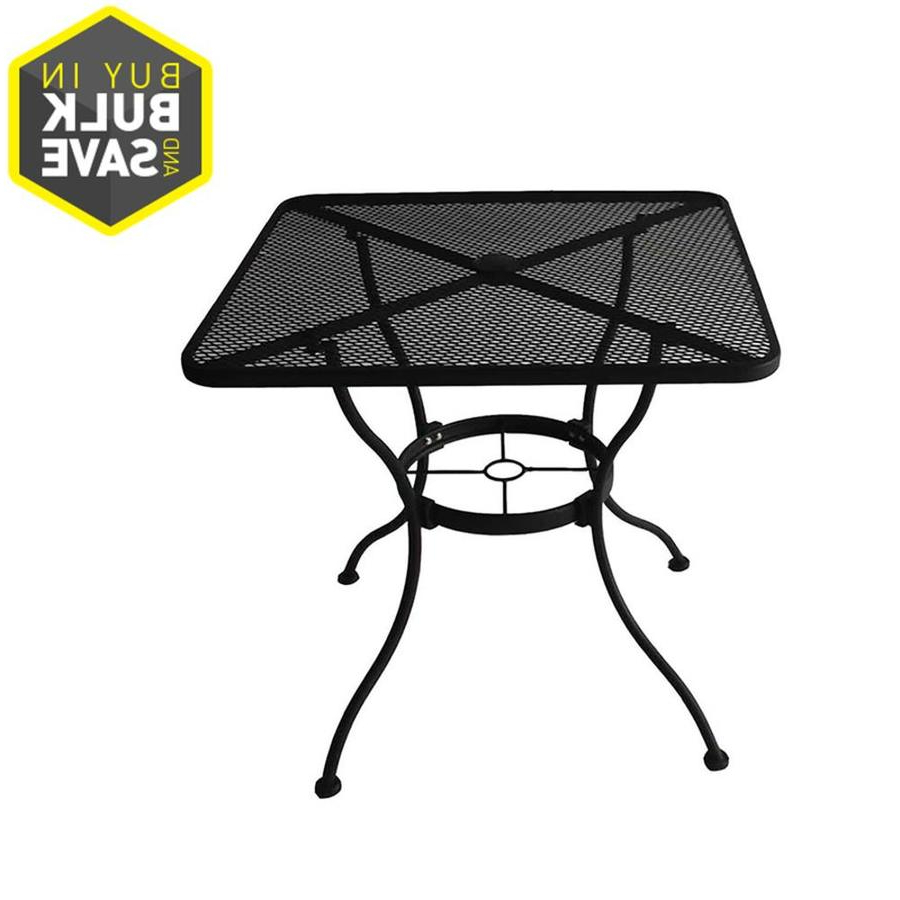 Bradford Patiosquare Market Umbrellas For Latest Patio Tables At Lowes (View 18 of 20)