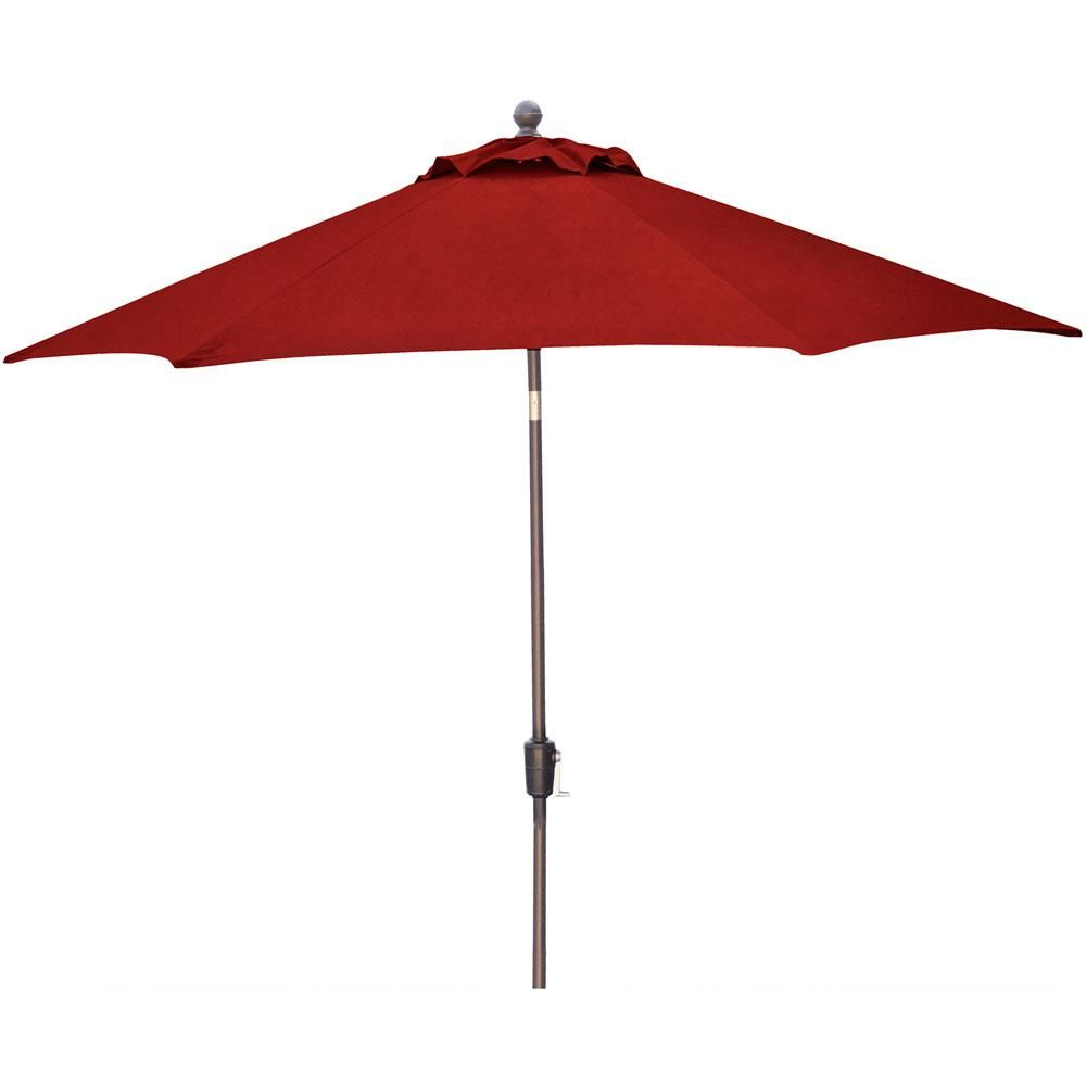 Bradford Rectangular Market Umbrellas Throughout Trendy Astella 11' Aluminum Market Umbrella With Crank Lift In Polyester (View 7 of 20)