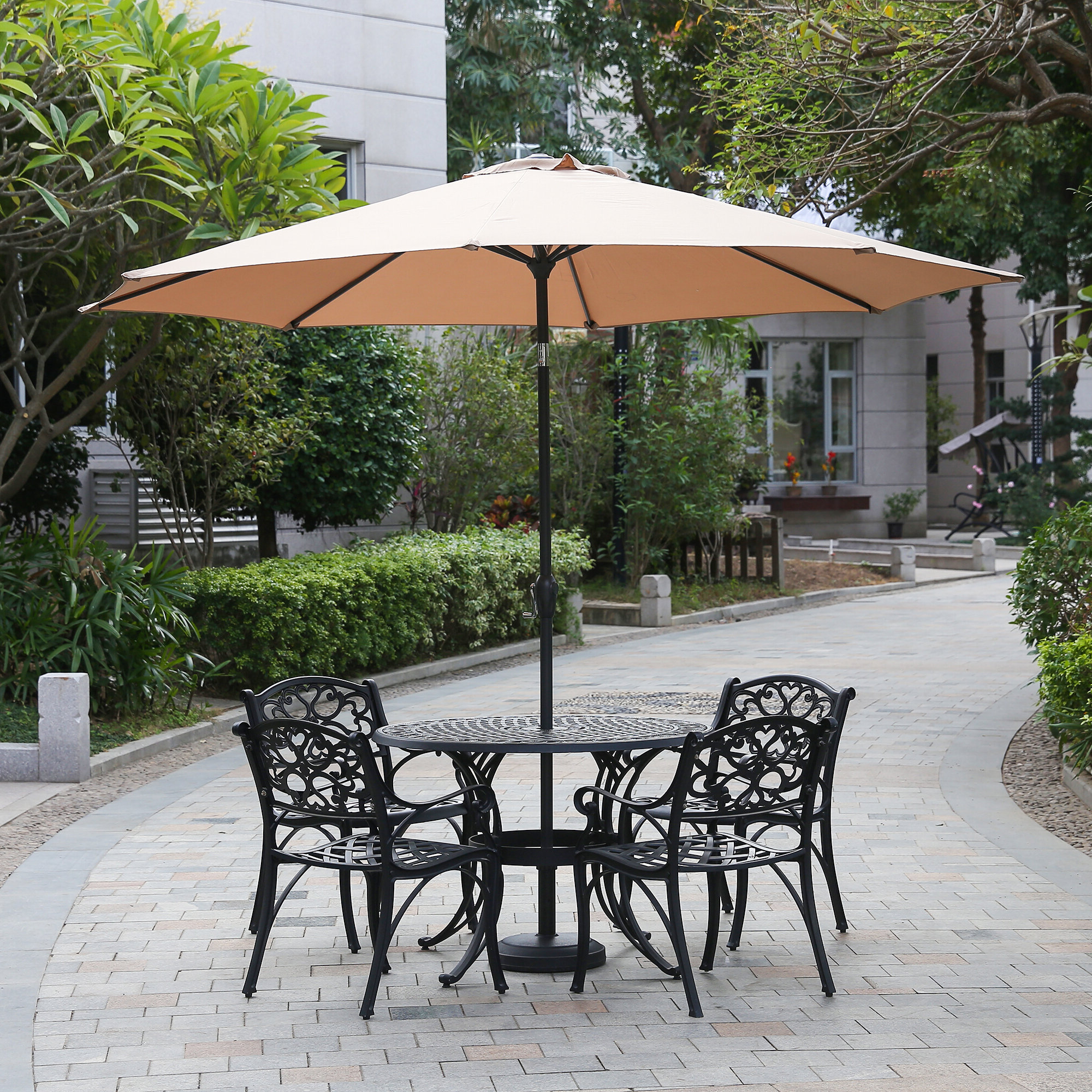 Brame Market Umbrellas In Popular Hatten 10' Market Umbrella (Gallery 9 of 20)