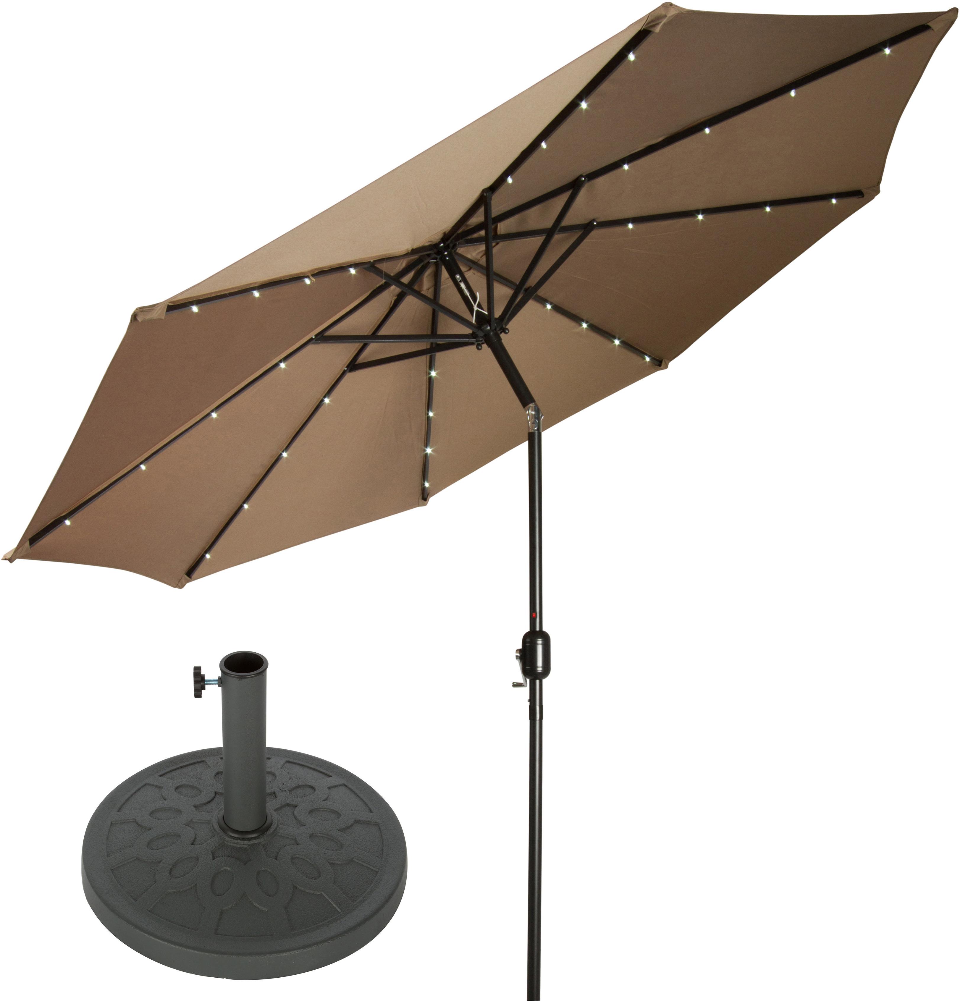 Branscum 9' Lighted Umbrella Within Well Liked Hettie Solar Lighted Market Umbrellas (Gallery 6 of 20)