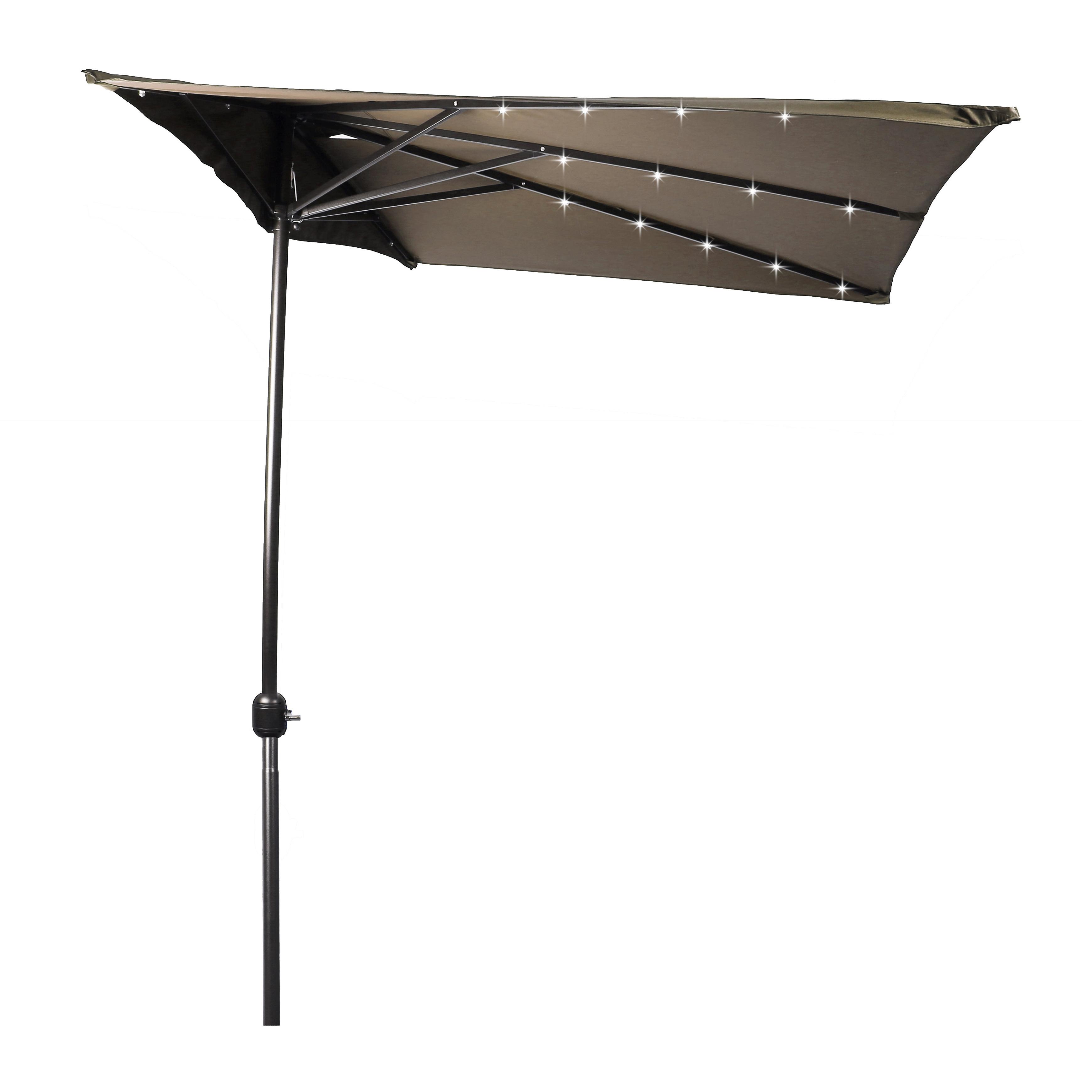 Brazelton 6.5' Lighted Half Umbrella With Regard To Trendy Monty Half Market Umbrellas (Gallery 11 of 20)