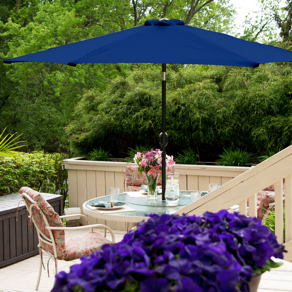 Bricker Market Umbrellas In Current Hobkirk 11' Market Umbrella (Gallery 3 of 20)