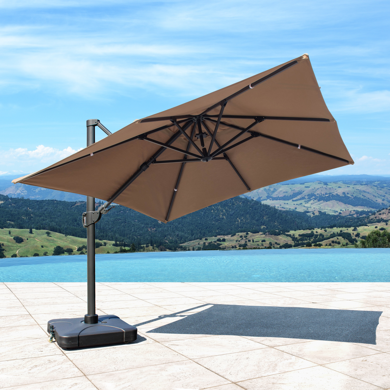 Bridgnorth 10' Rectangular Cantilever Sunbrella Umbrella Intended For Current Lennie Cantilever Sunbrella Umbrellas (Gallery 3 of 20)