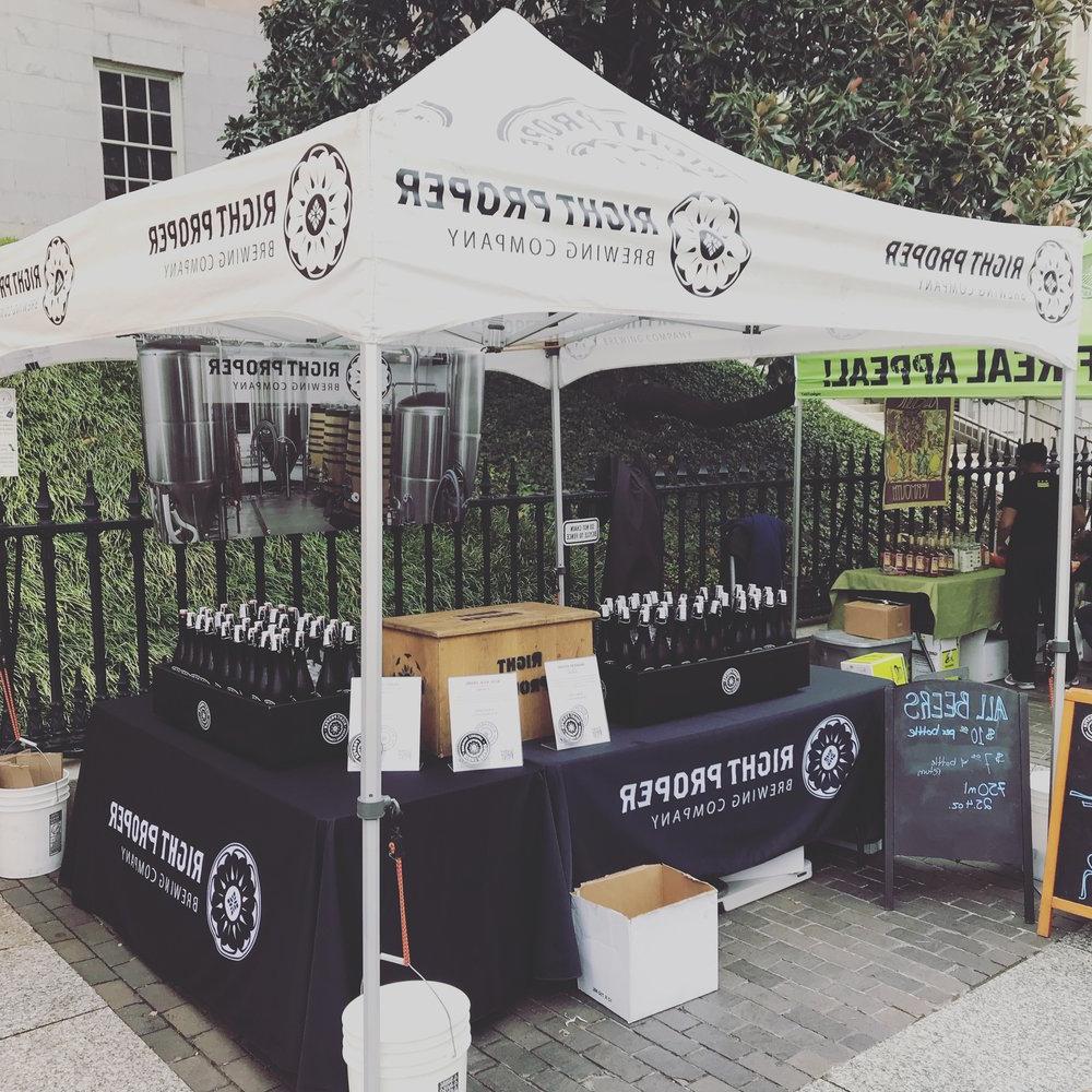 Brookland Market Umbrellas Regarding Recent Snapshots — Right Proper Brewing Company (Gallery 20 of 20)