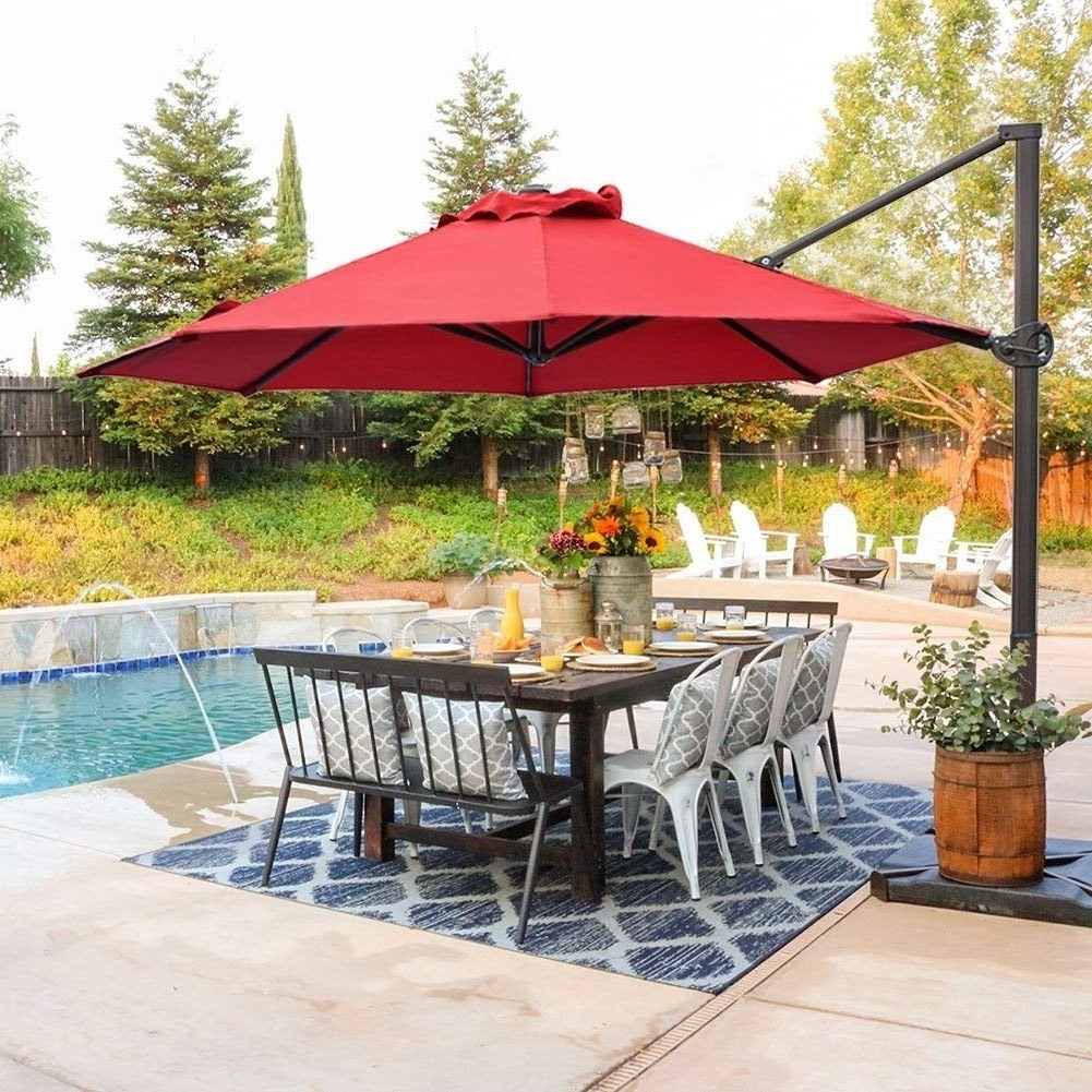 Buy Cantilever Offset Patio Umbrellas Online At Overstock (View 19 of 20)